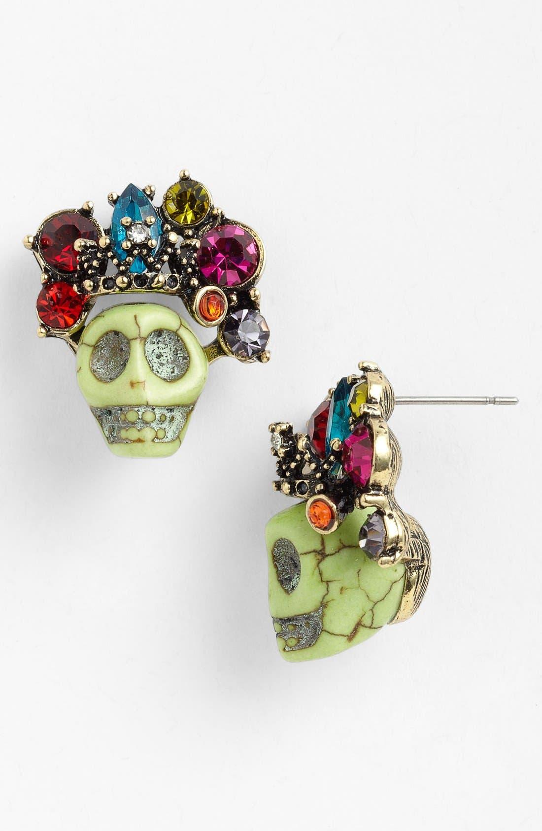 Alternate Image 1 Selected - Spring Street 'Jewel Crown' Stud Earrings