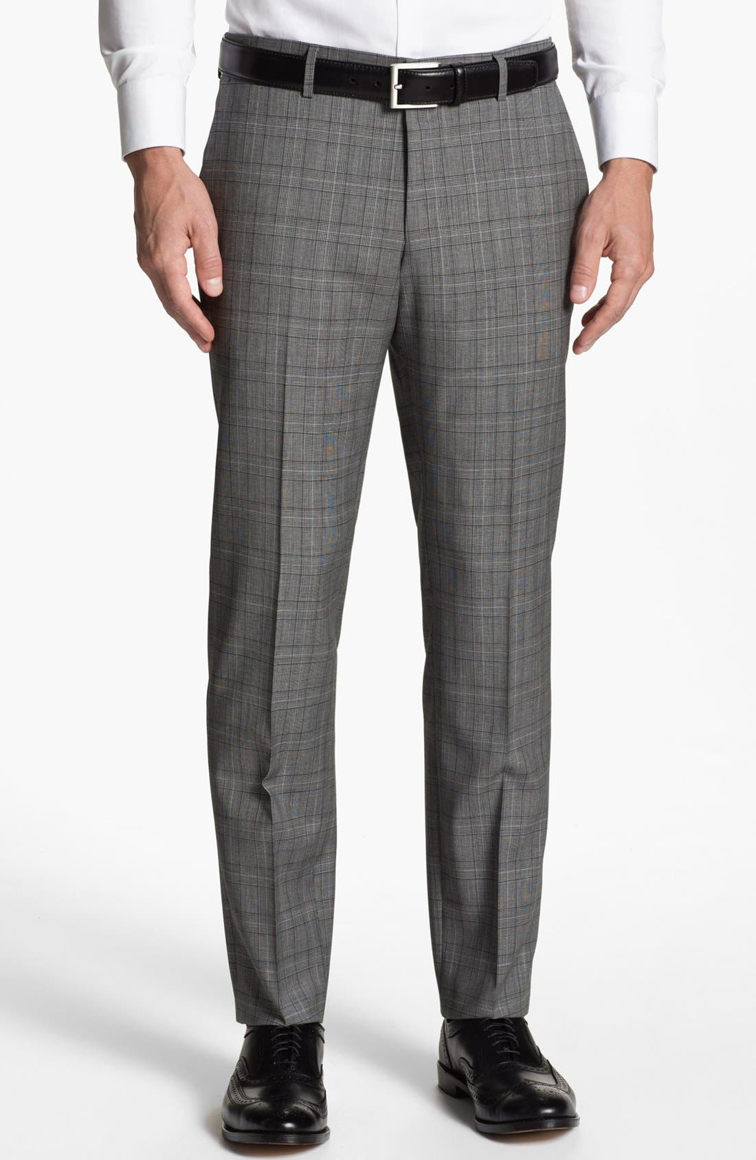 Alternate Image 5  - BOSS HUGO BOSS 'Huge/Genius' Extra Trim Fit Plaid Suit