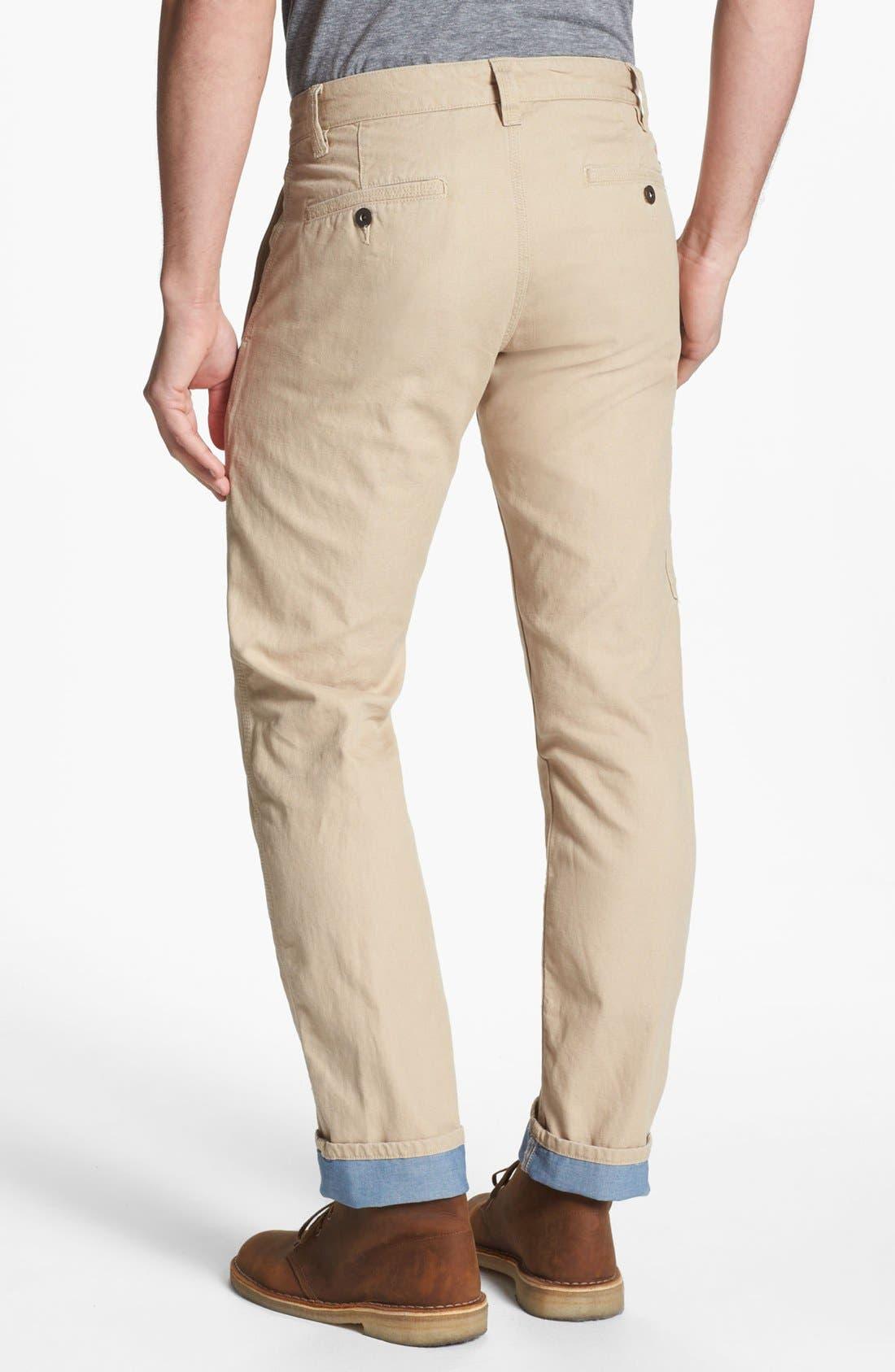 Alternate Image 2  - Dockers® 'Alpha Khaki' Slim Straight Leg Canvas Chinos