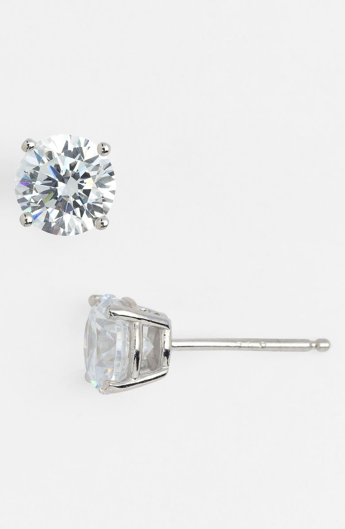 Alternate Image 1 Selected - Nordstrom 2ct tw Cubic Zirconia Stud Earrings (Special Purchase)
