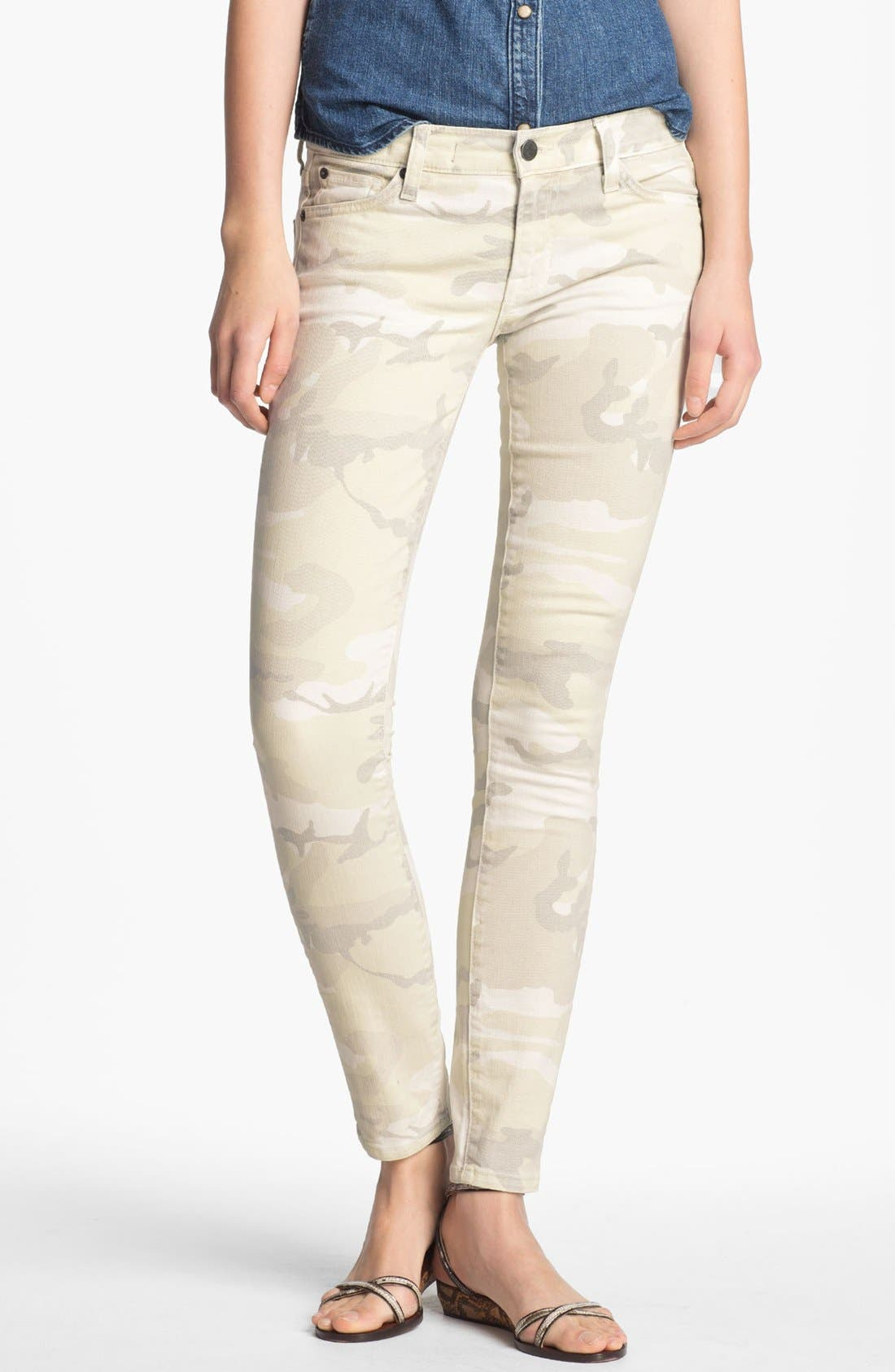 Alternate Image 1 Selected - TEXTILE Elizabeth and James 'Debbie' Camo Print Stretch Jeans