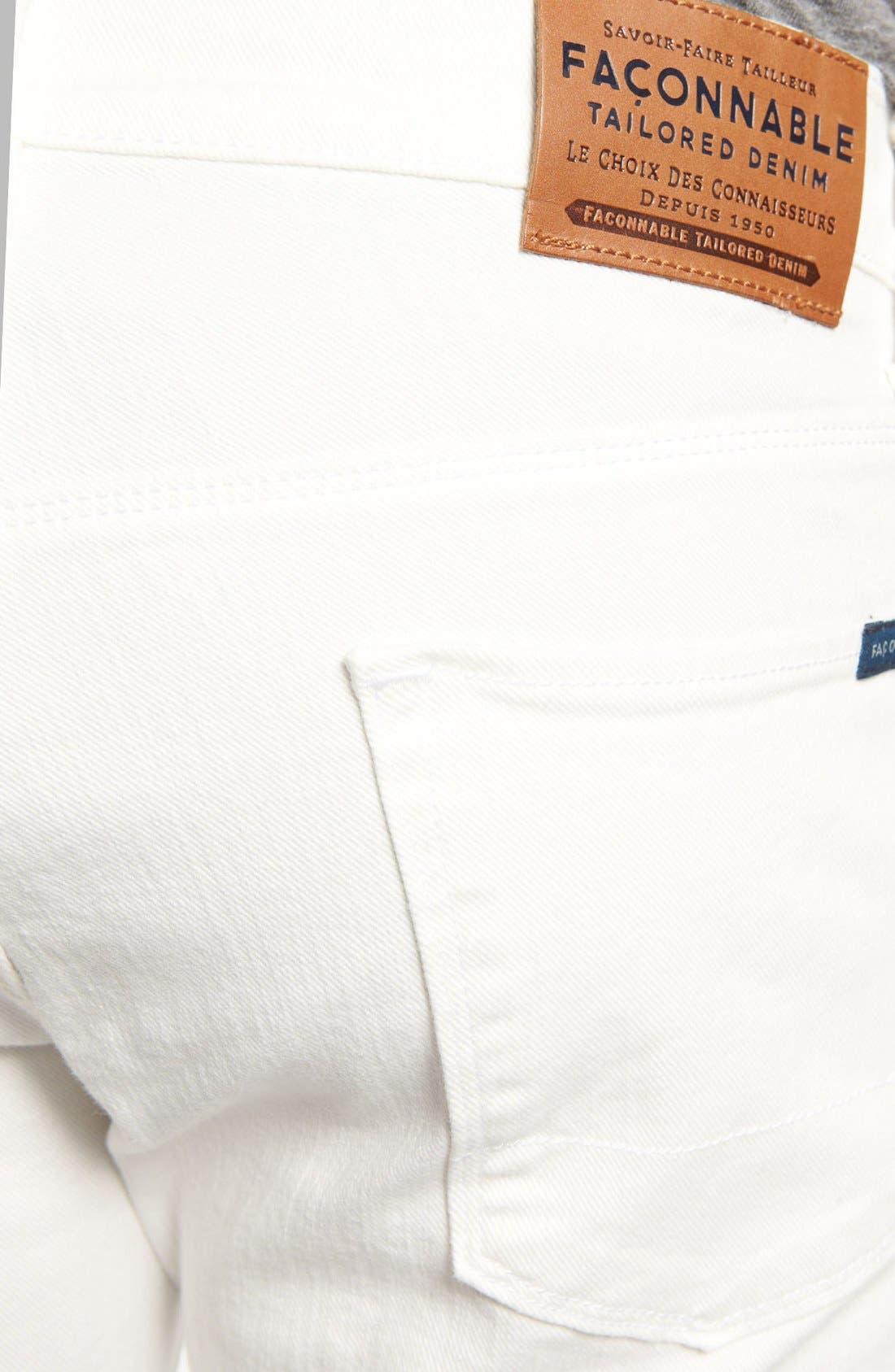 Alternate Image 4  - Façonnable Tailored Denim Straight Leg Jeans