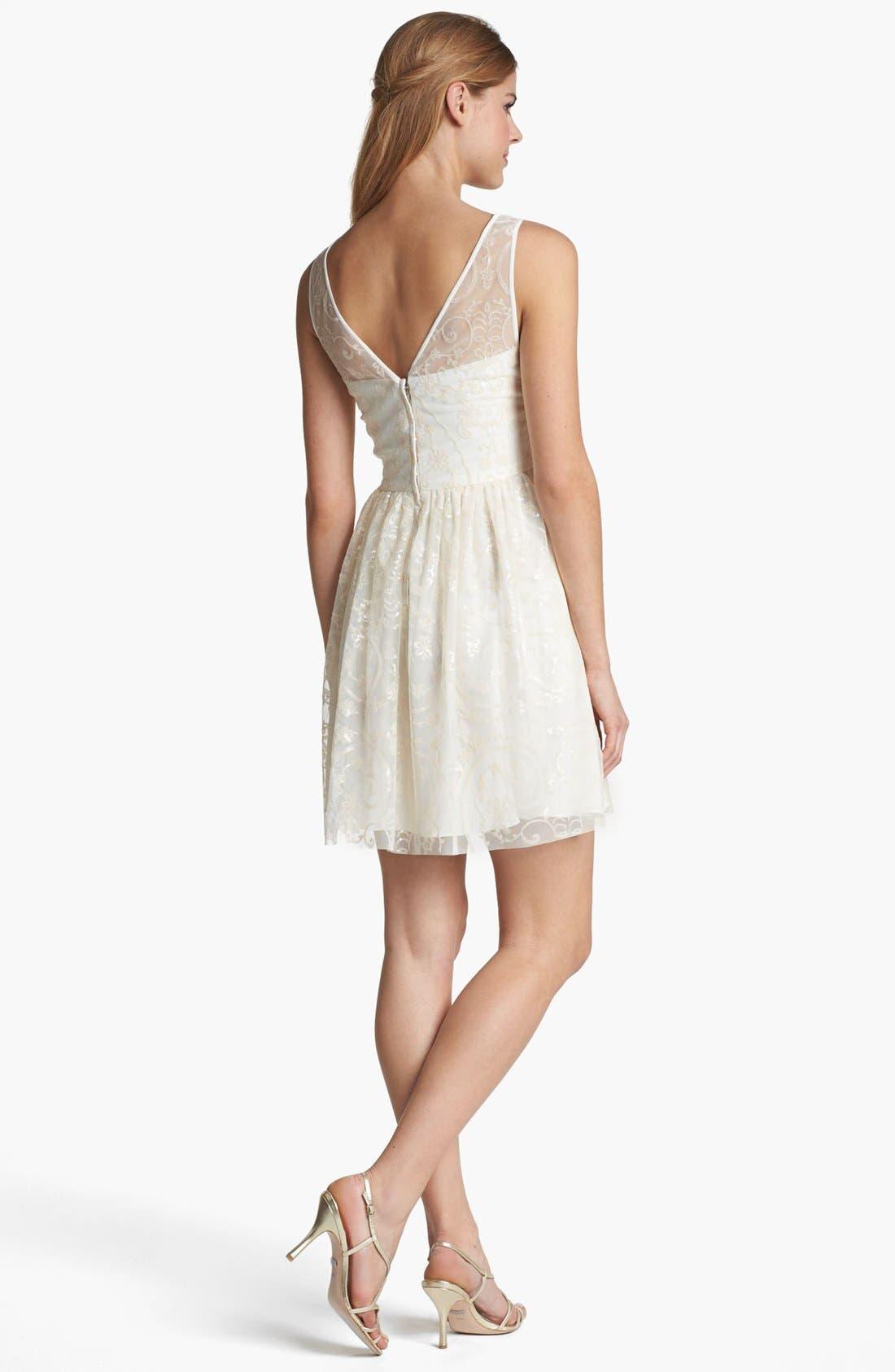 Alternate Image 2  - Jill Jill Stuart Embellished Mesh Fit & Flare Dress