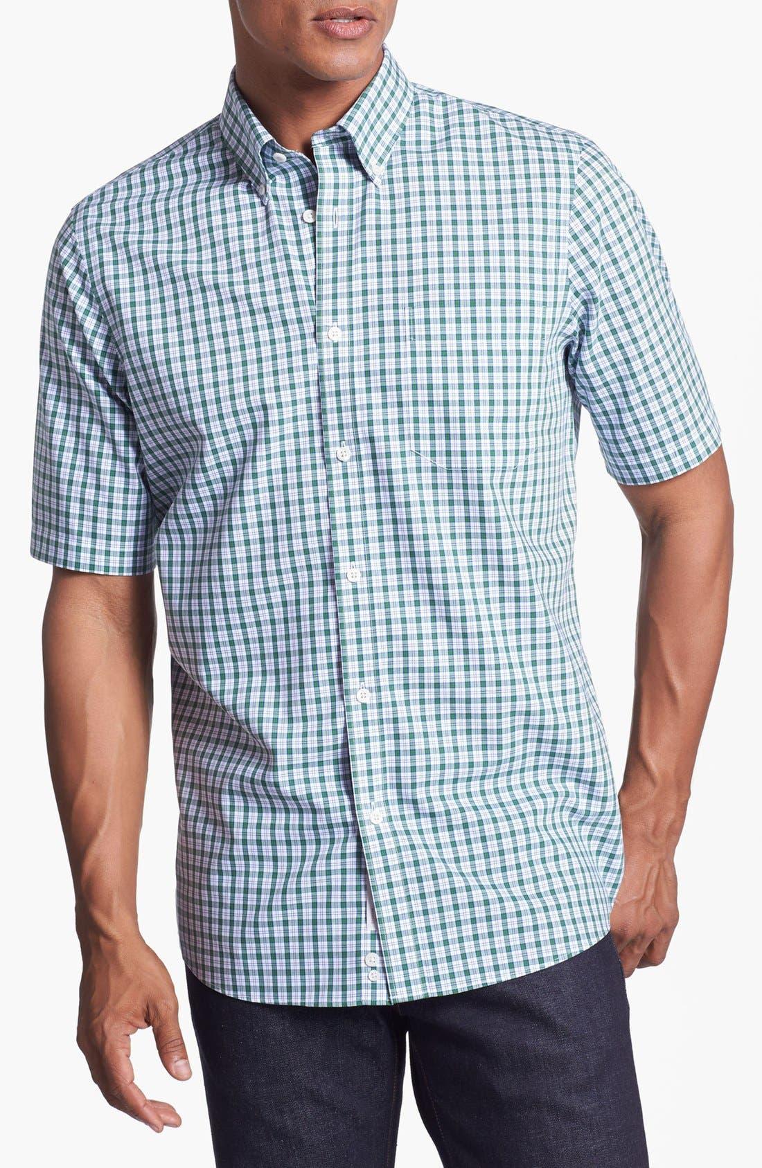 Main Image - Nordstrom Smartcare™ Regular Fit Short Sleeve Sport Shirt