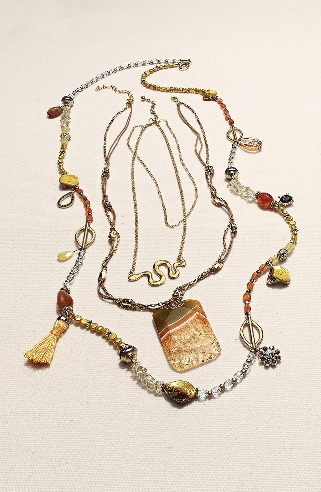 Alternate Image 2  - Nordstrom 'Azteca' Multistrand Pendant Necklace