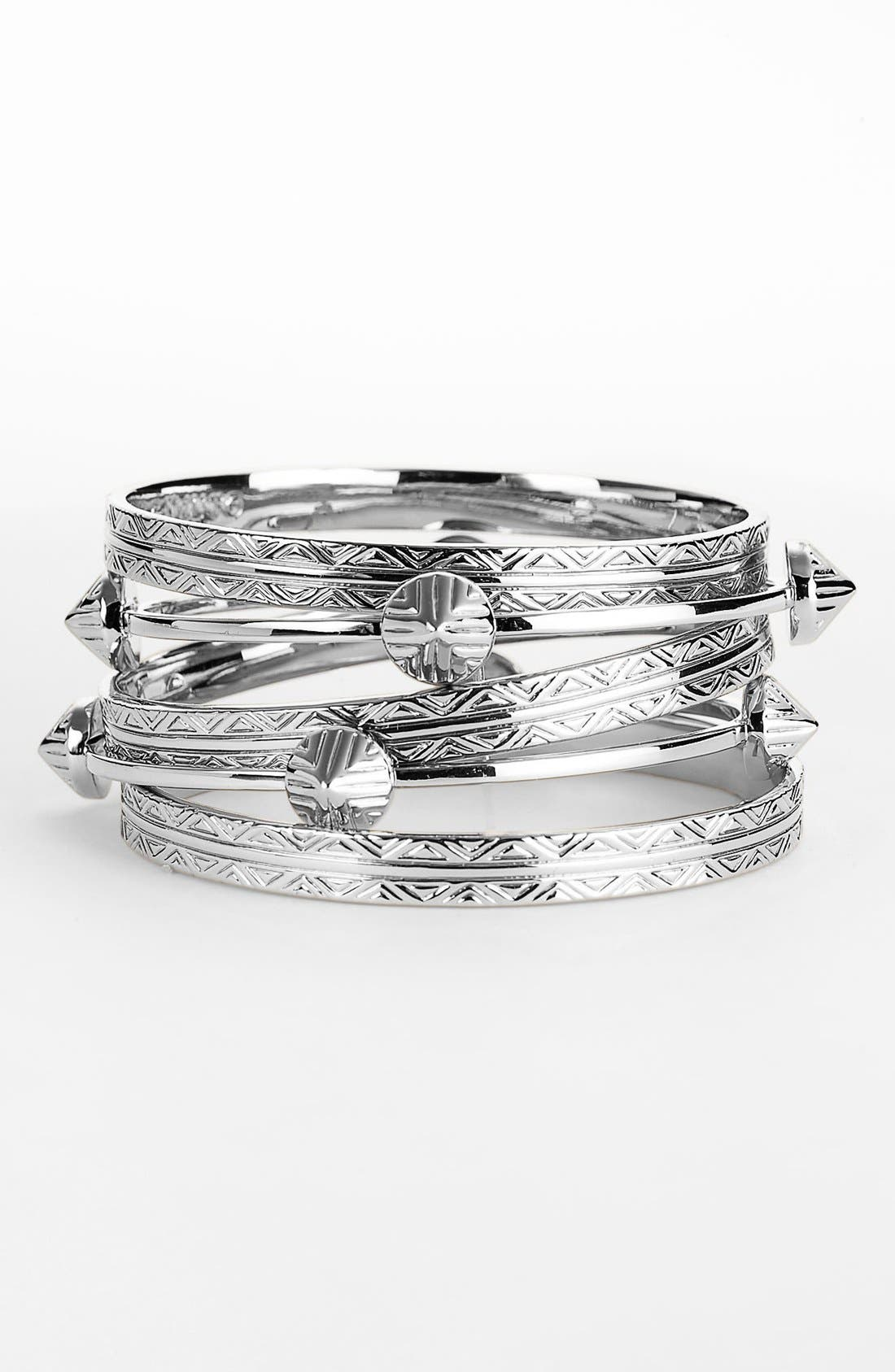 Alternate Image 1 Selected - Vince Camuto 'Tribal Fusion' Bangles (Set of 5)