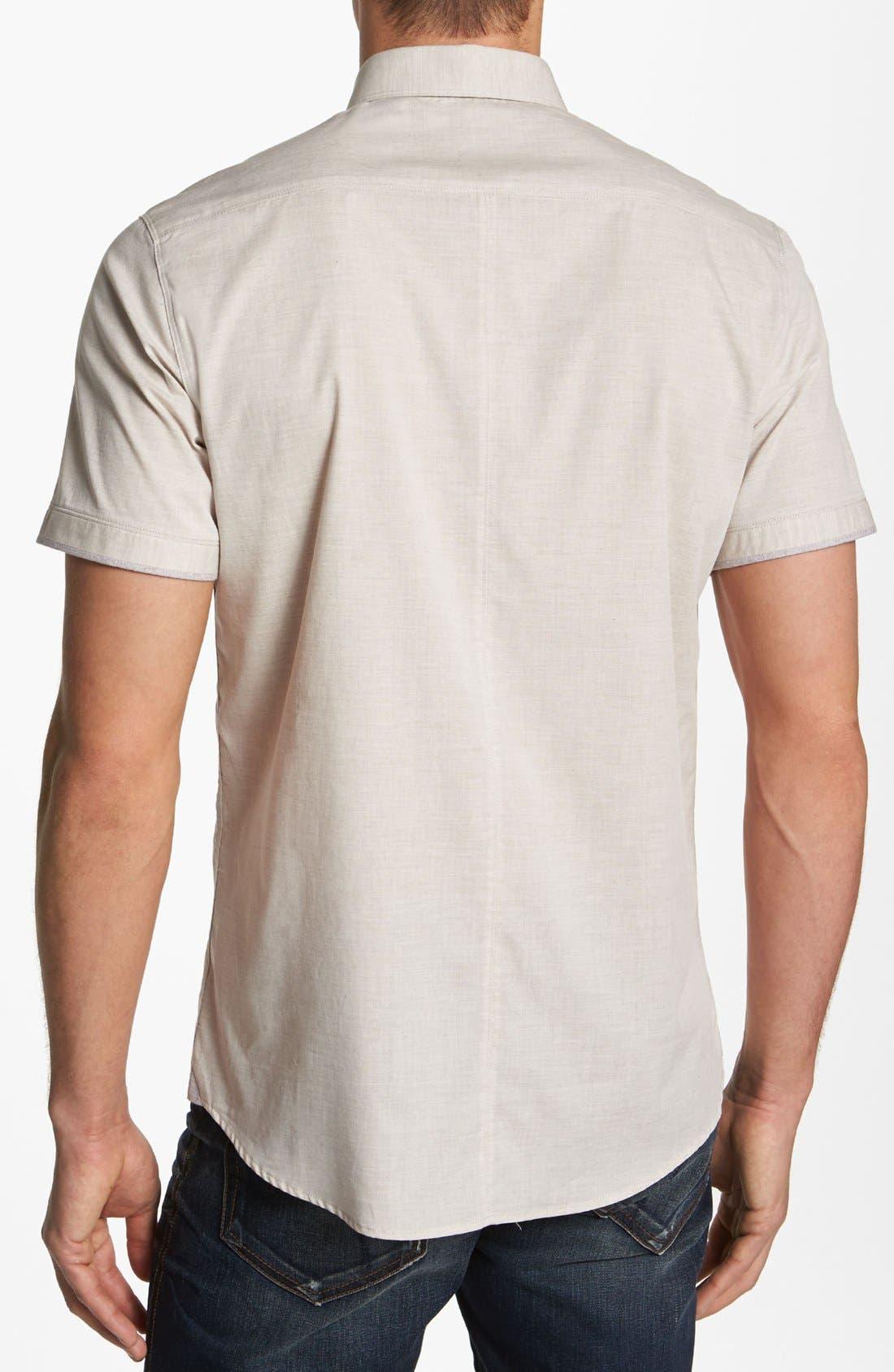 Alternate Image 2  - 7 Diamonds 'Pyramids' Woven Short Sleeve Shirt