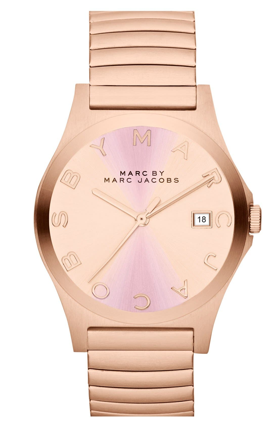 Alternate Image 1 Selected - MARC BY MARC JACOBS 'Henry' Stretchy Bracelet Watch