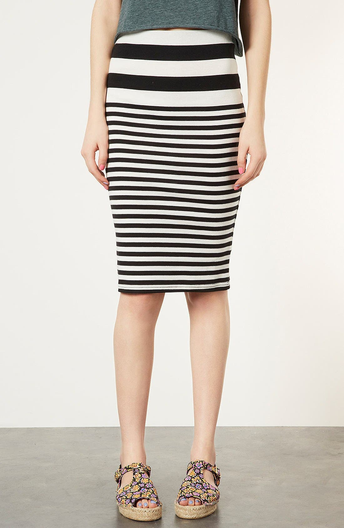 Main Image - Topshop Stripe Tube Skirt