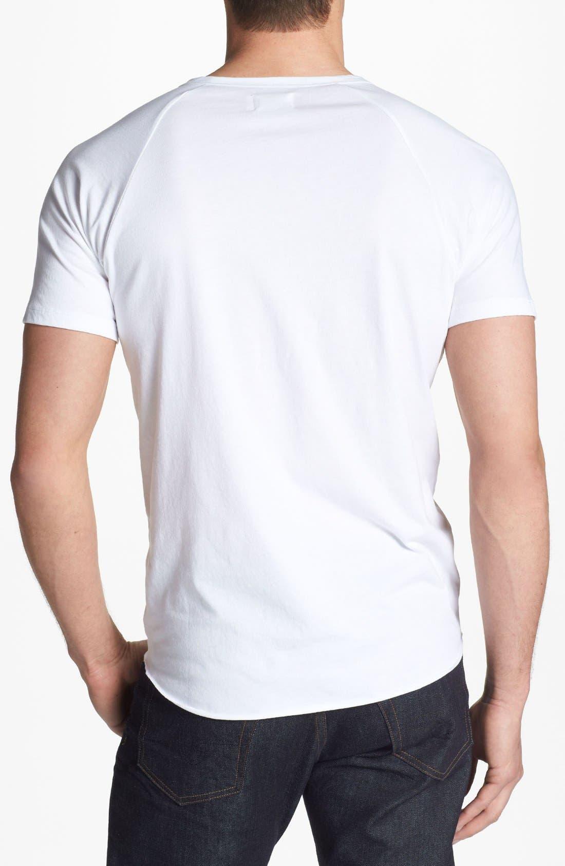 Alternate Image 2  - AG Short Sleeve Raglan Henley T-Shirt