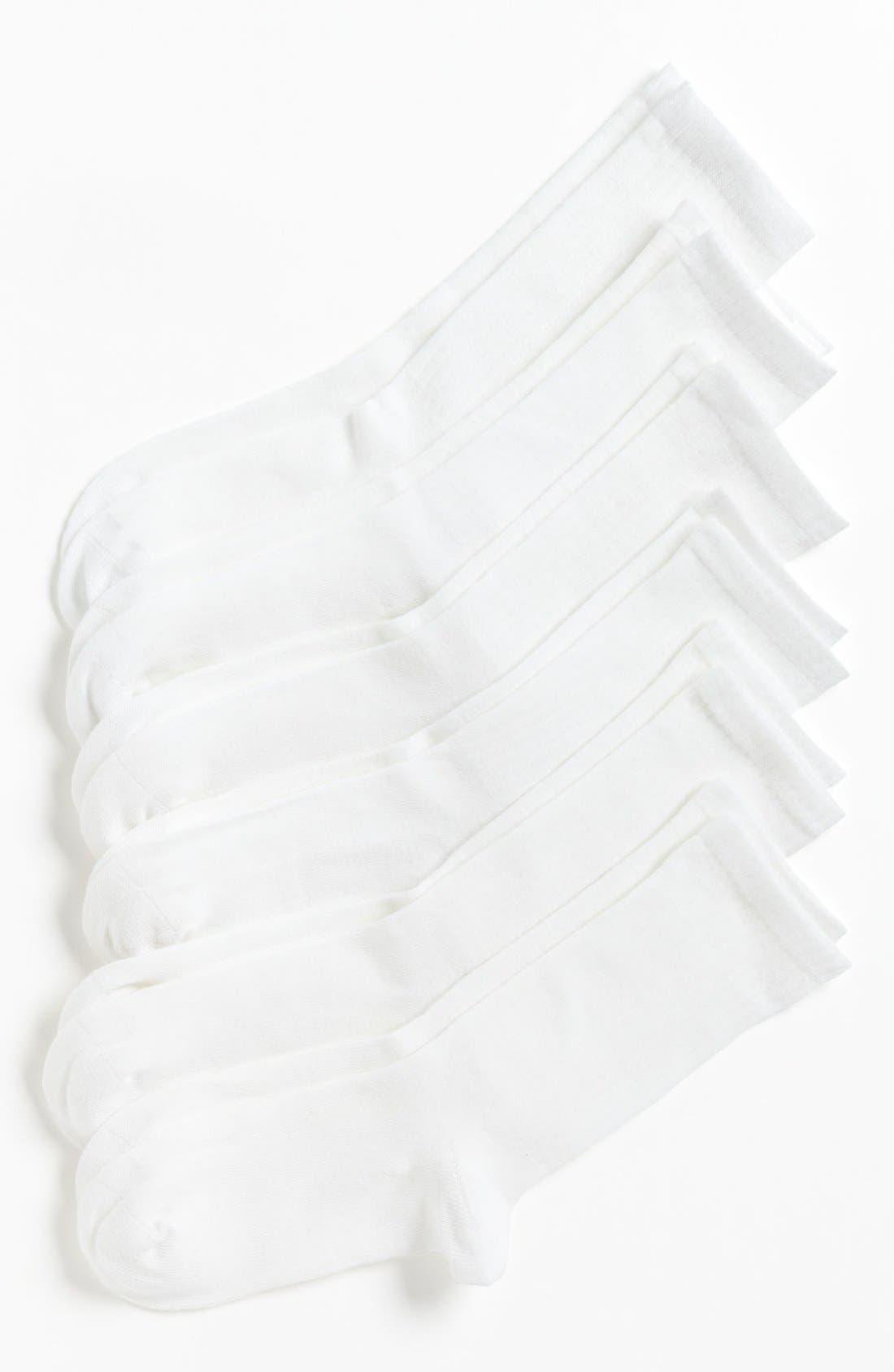 Alternate Image 1 Selected - Nordstrom Crew Socks (6-Pack) (Toddler, Little Boys & Big Boys)
