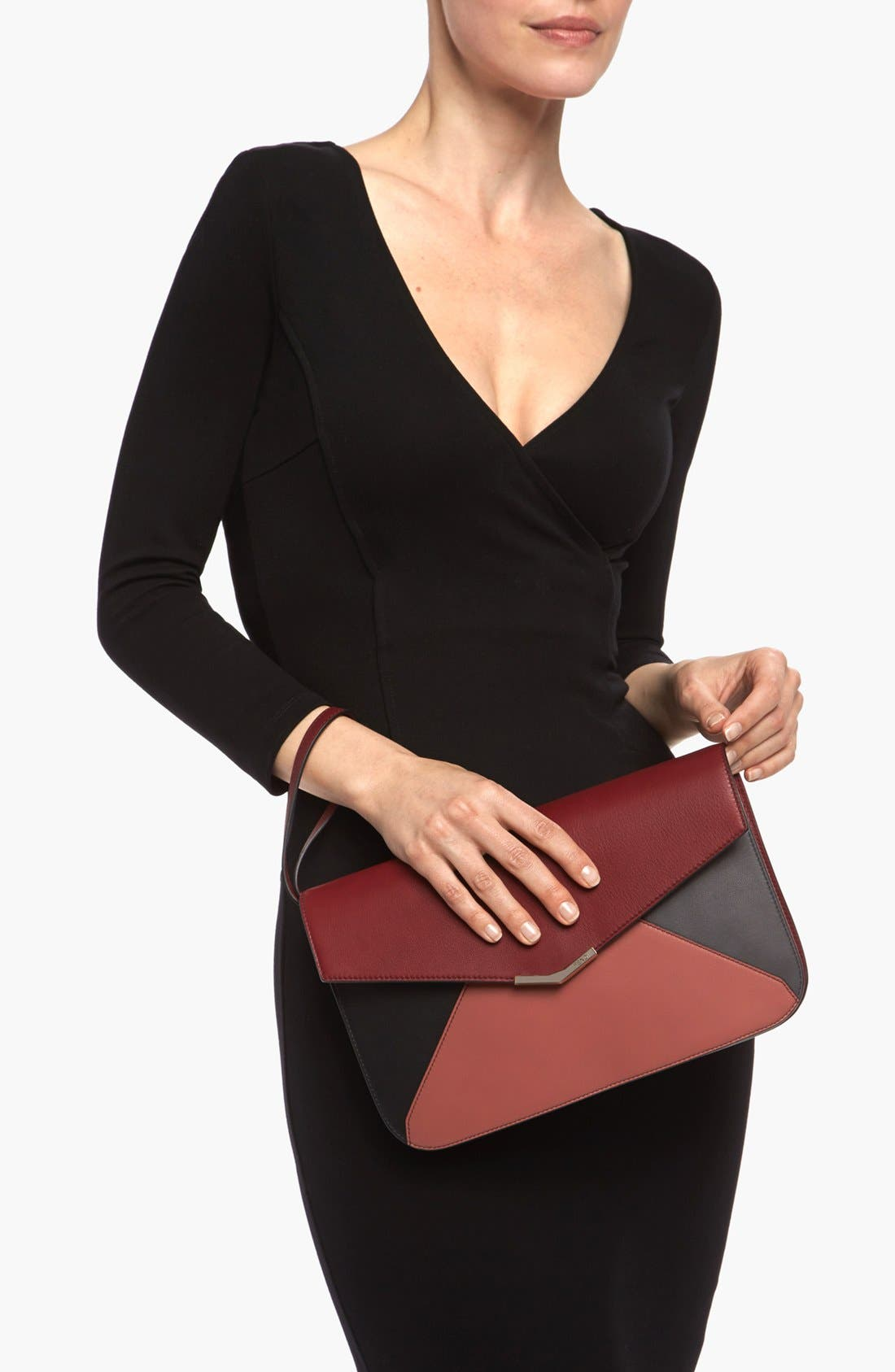 Alternate Image 2  - Fendi '2Jours Colorblock' Leather Clutch