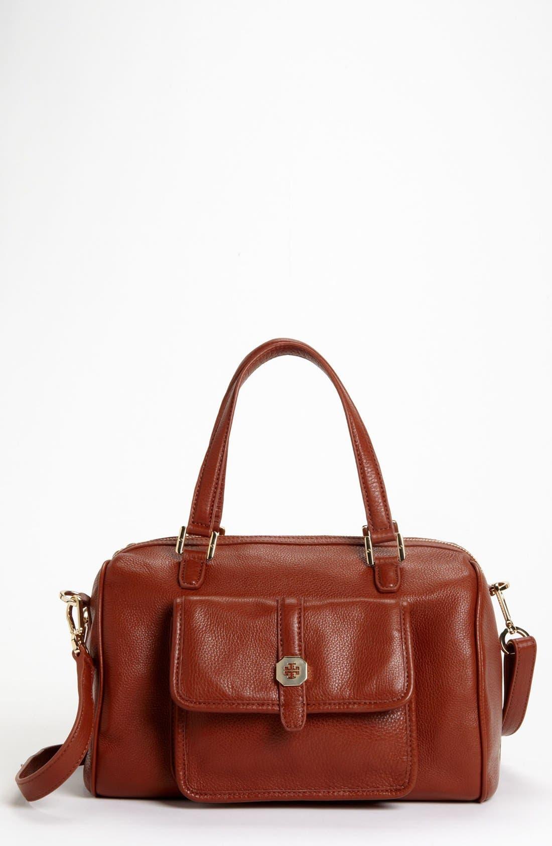 Main Image - Tory Burch 'Clay' Leather Satchel, Medium