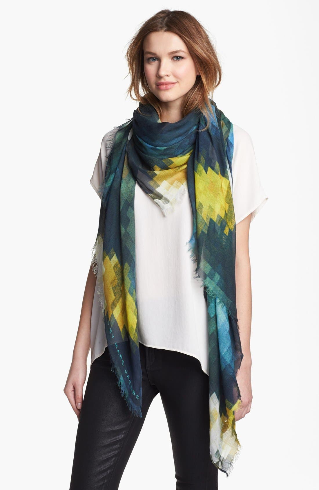 Alternate Image 1 Selected - MARC BY MARC JACOBS Pixelated Print Scarf