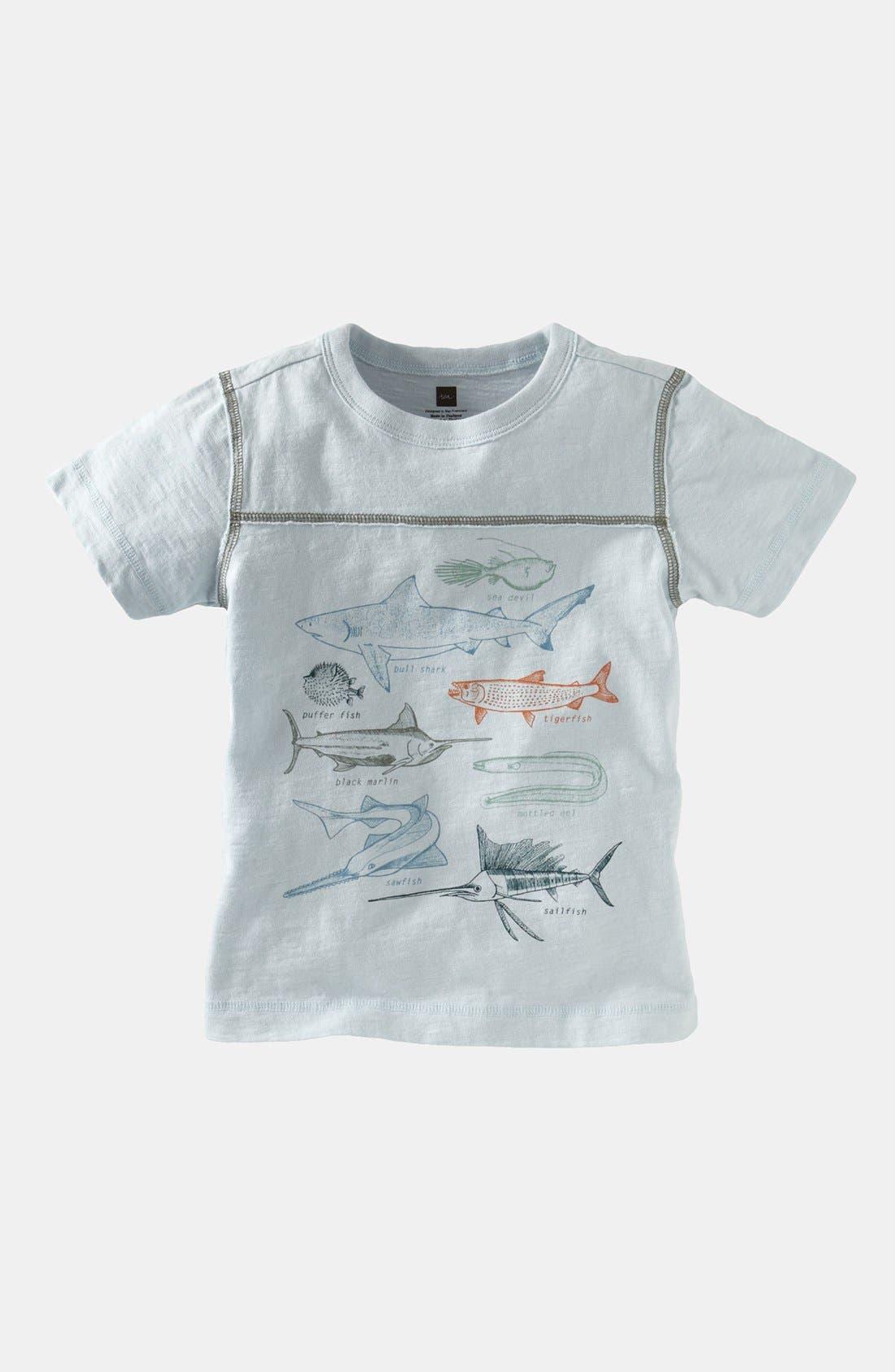 Alternate Image 1 Selected - Tea Collection 'Fish I.D.' T-Shirt (Toddler)