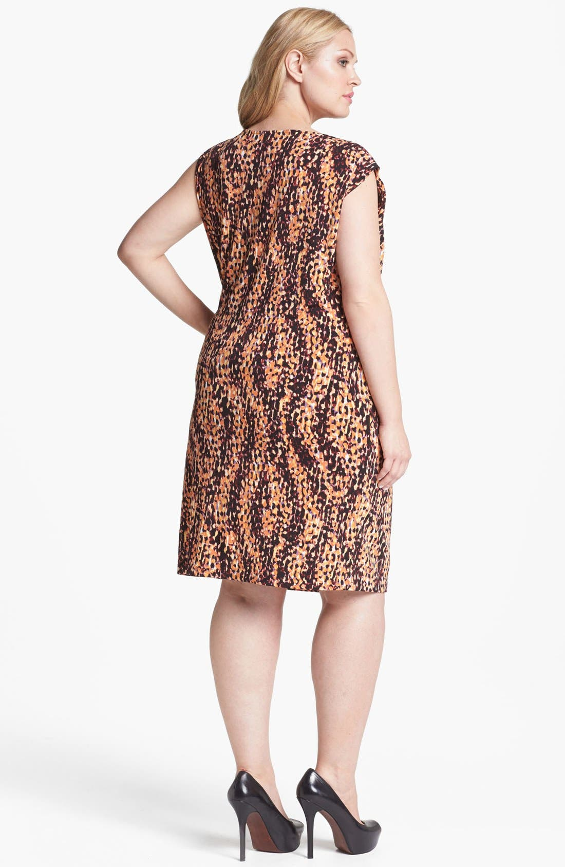Alternate Image 2  - Anne Klein Scale Print Jersey Dress (Plus Size)