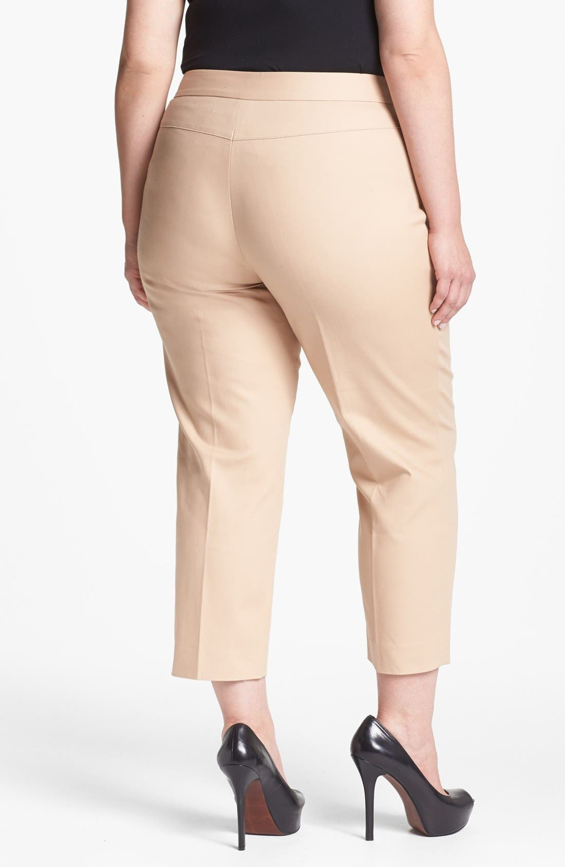 Alternate Image 2  - Anne Klein Straight Crop Pants (Plus Size)