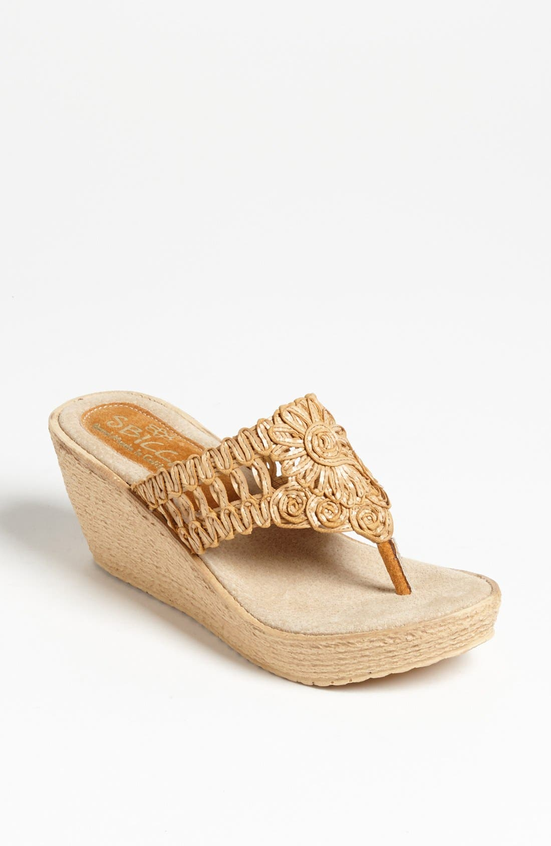 Alternate Image 1 Selected - Sbicca 'Kalani' Flip Flop Wedge Sandal