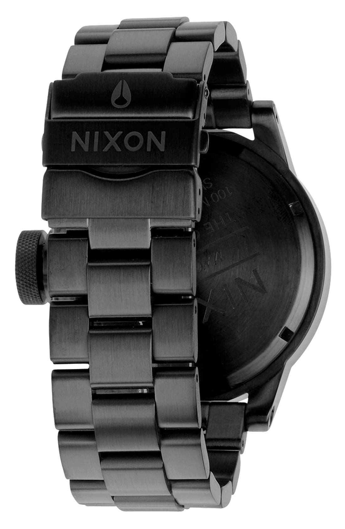 Alternate Image 2  - Nixon 'The Chronicle' Stainless Steel Watch, 48mm