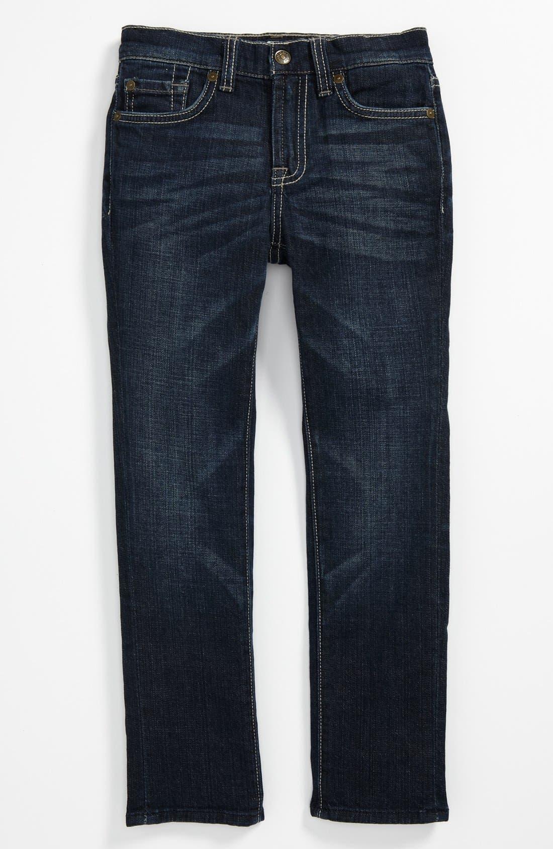 Alternate Image 2  - 7 For All Mankind® 'Slimmy' Slim Straight Leg Jeans (Little Boys & Big Boys)