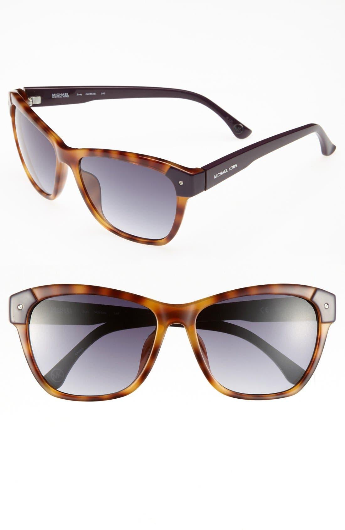 Alternate Image 1 Selected - MICHAEL Michael Kors 'Zoey' 58mm Sunglasses