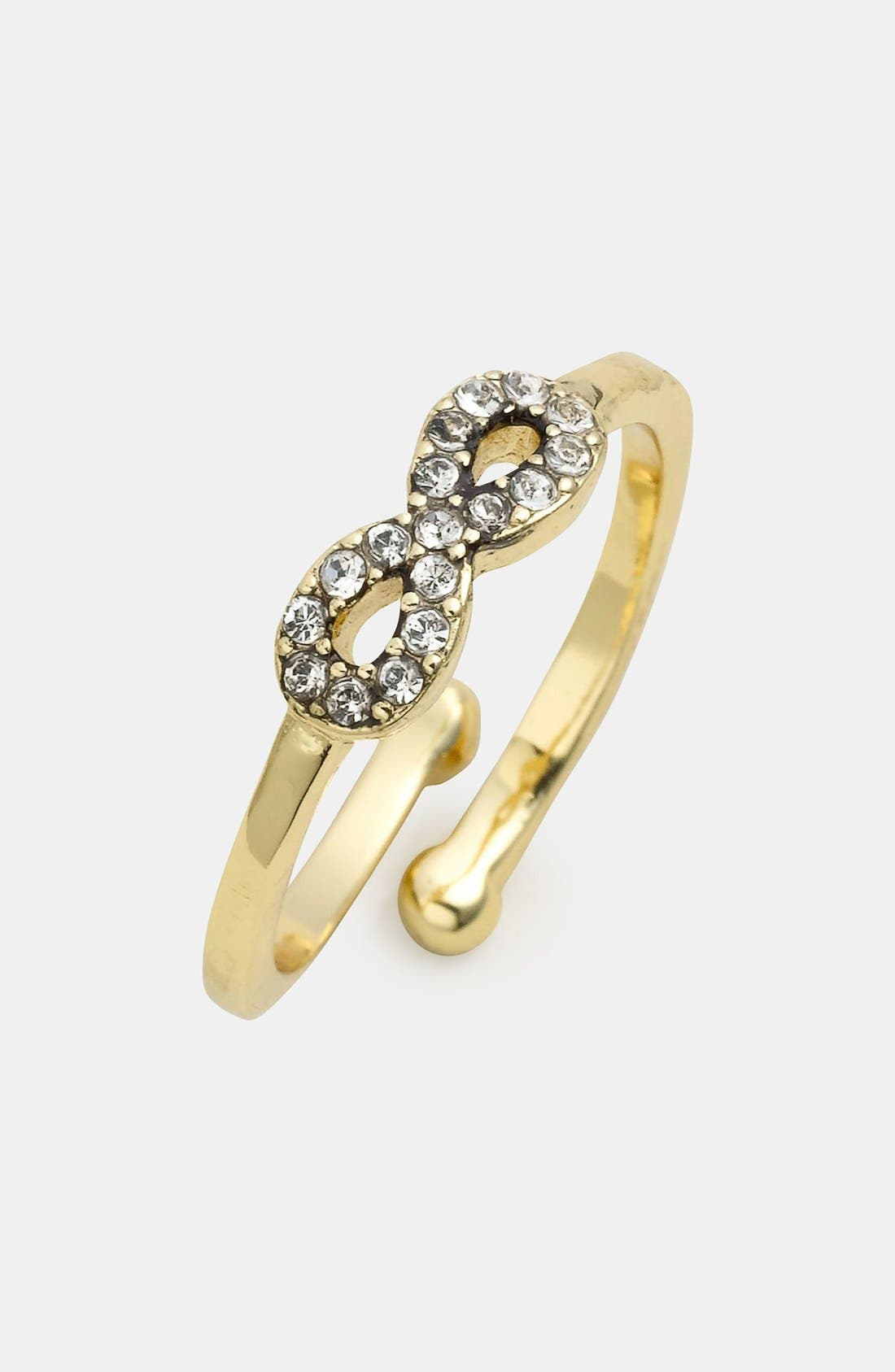 Alternate Image 1 Selected - Ariella Collection Infinity Symbol Ring (Nordstrom Exclusive)