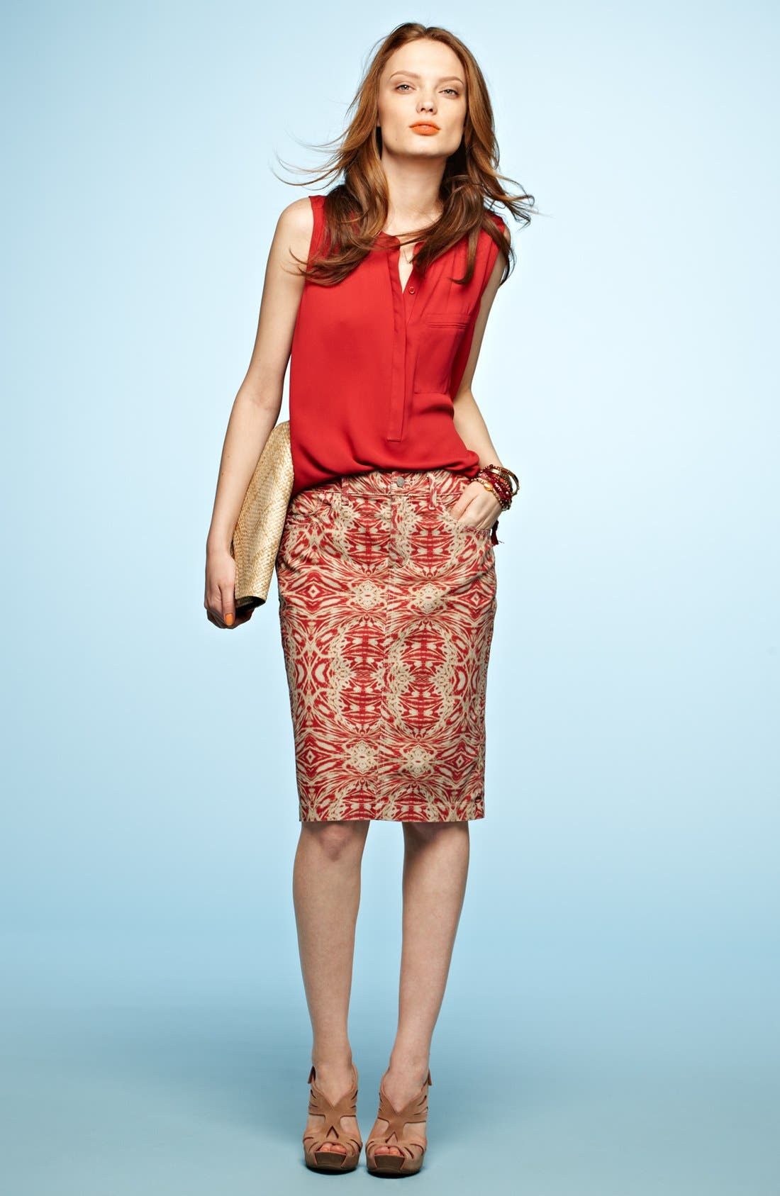 Alternate Image 6  - NYDJ 'Emma' Stretch Twill Skirt