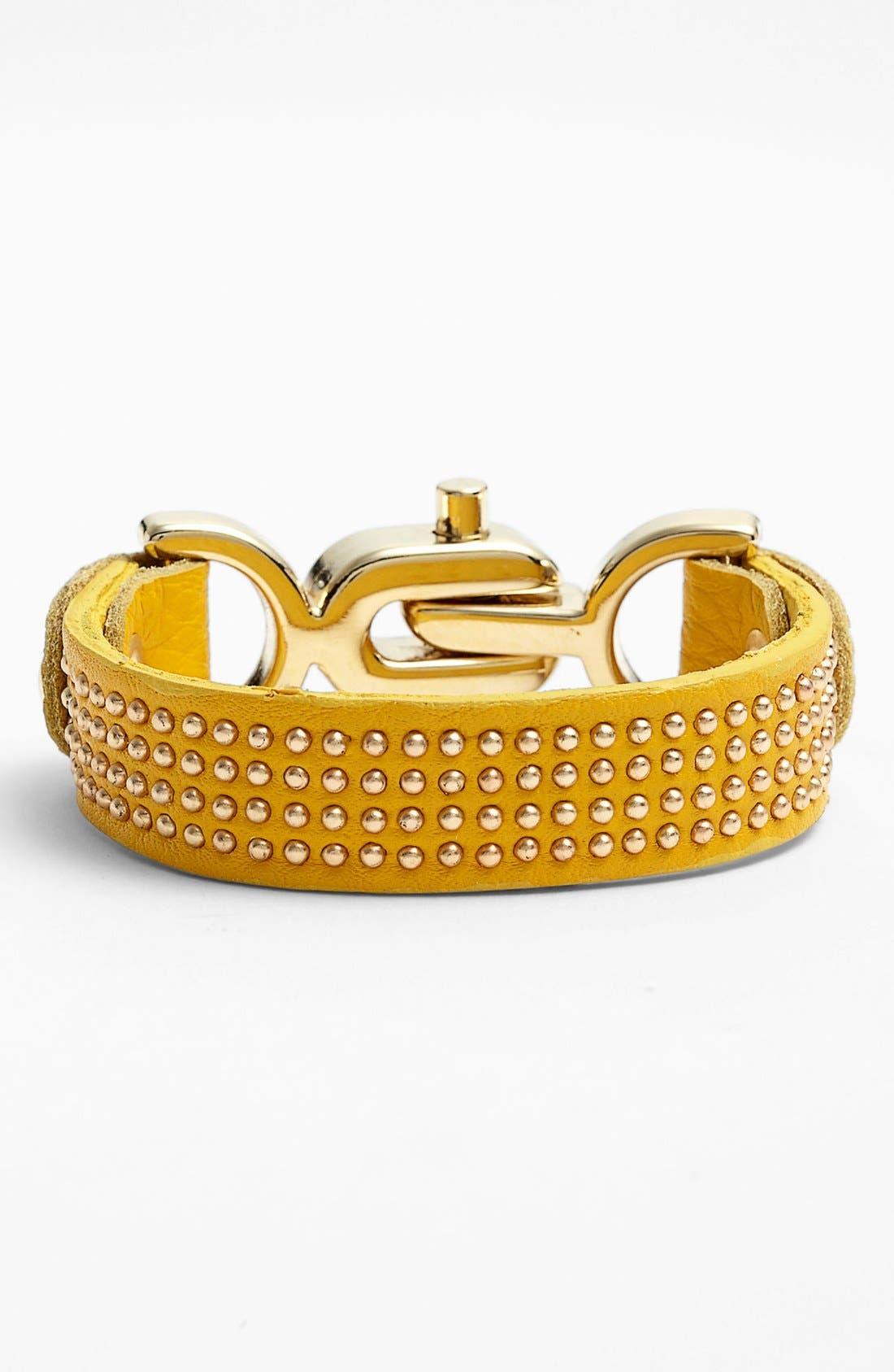 Main Image - Natasha Couture Studded Leather Bracelet