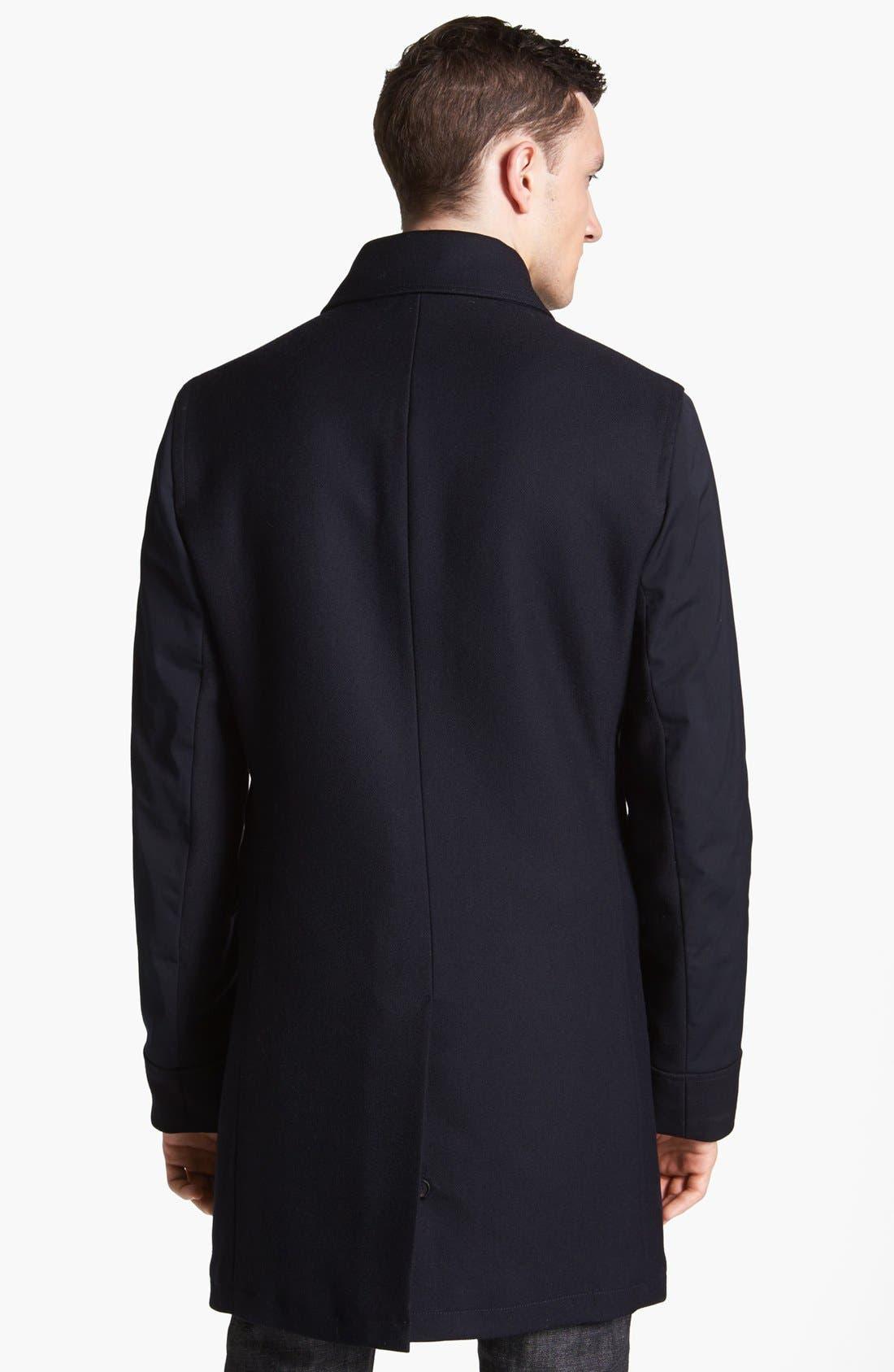 Alternate Image 2  - Salvatore Ferragamo Leather Trim Coat