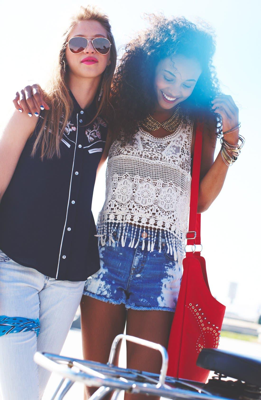 Alternate Image 5  - T-shirt & Jeans Stud Crossbody Bag