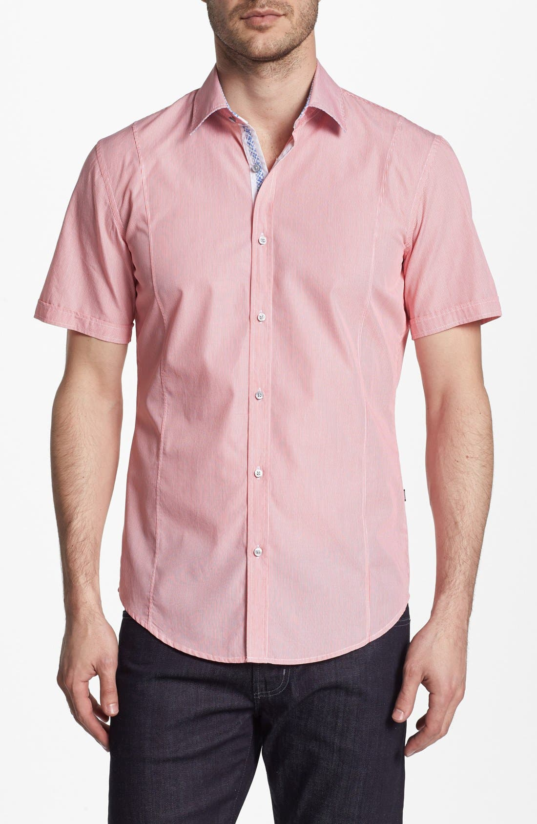 Main Image - BOSS HUGO BOSS 'Marco' Slim Fit Short Sleeve Sport Shirt