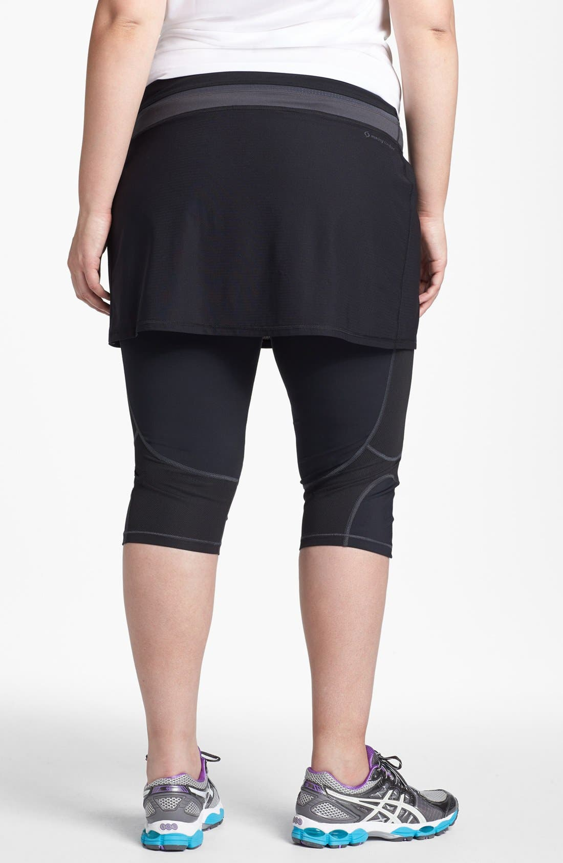 Alternate Image 2  - Moving Comfort 'Flow' Layering Skirt (Plus Size)