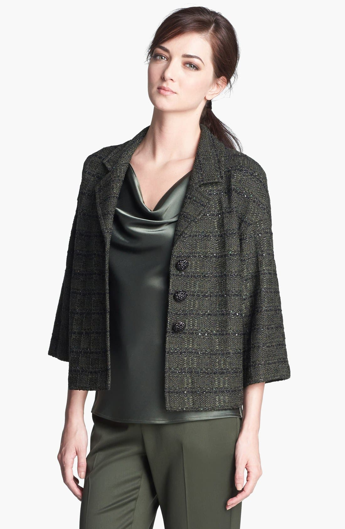 Main Image - St. John Collection Sequin Tweed Knit Jacket