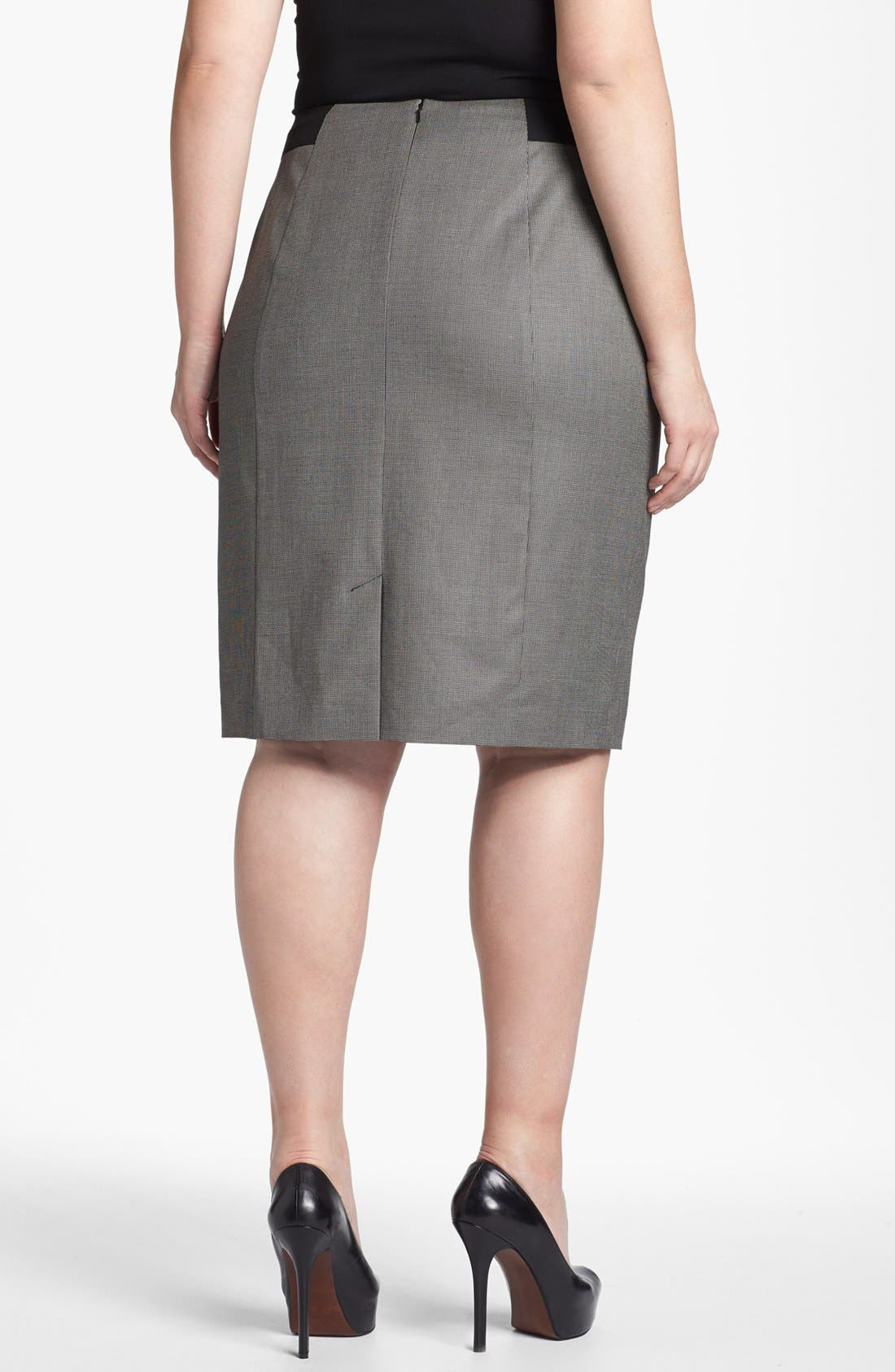 Alternate Image 2  - Sejour 'Marcy' Pencil Skirt (Plus Size)