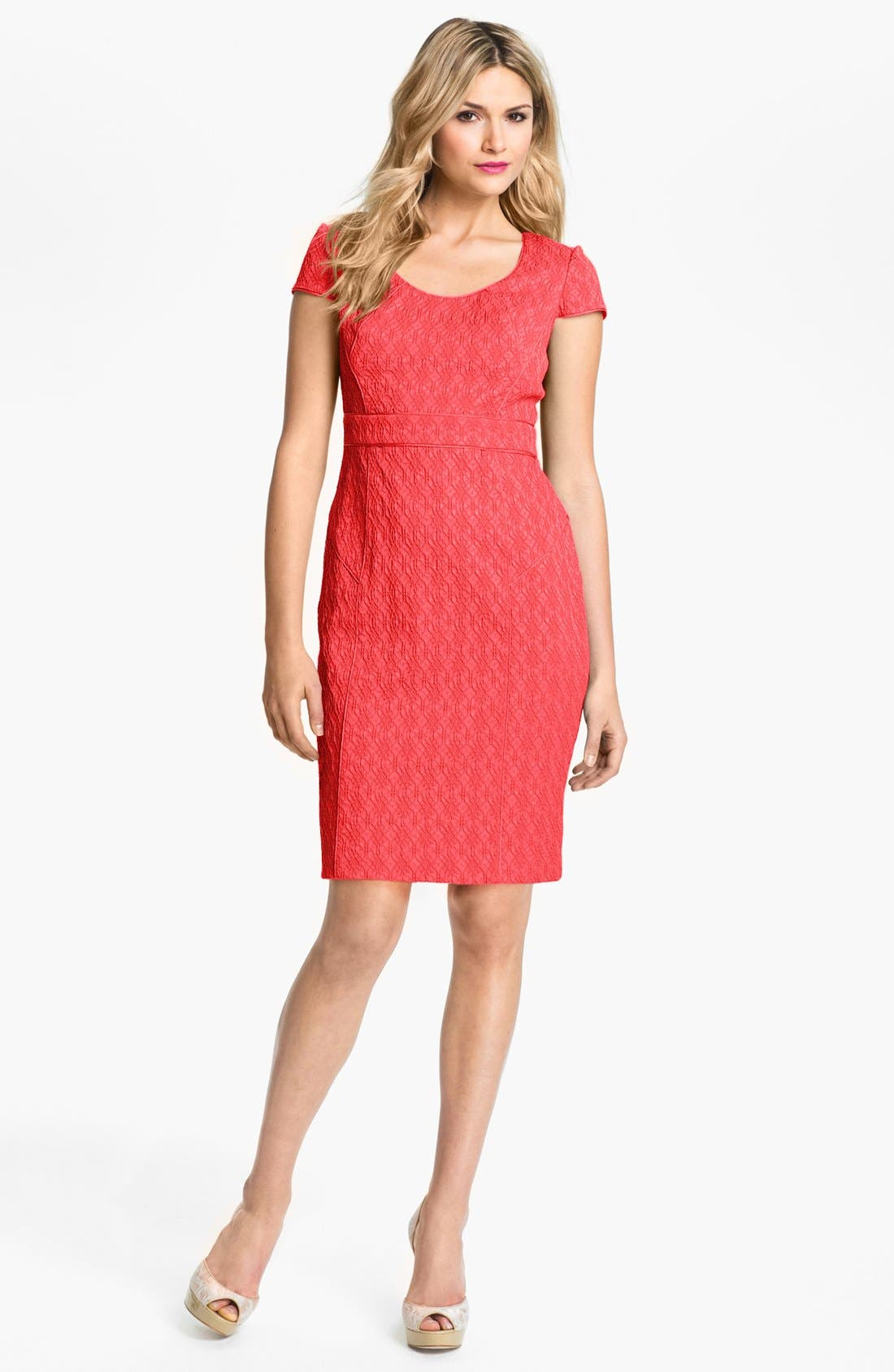 Alternate Image 1 Selected - Adrianna Papell Jacquard Sheath Dress