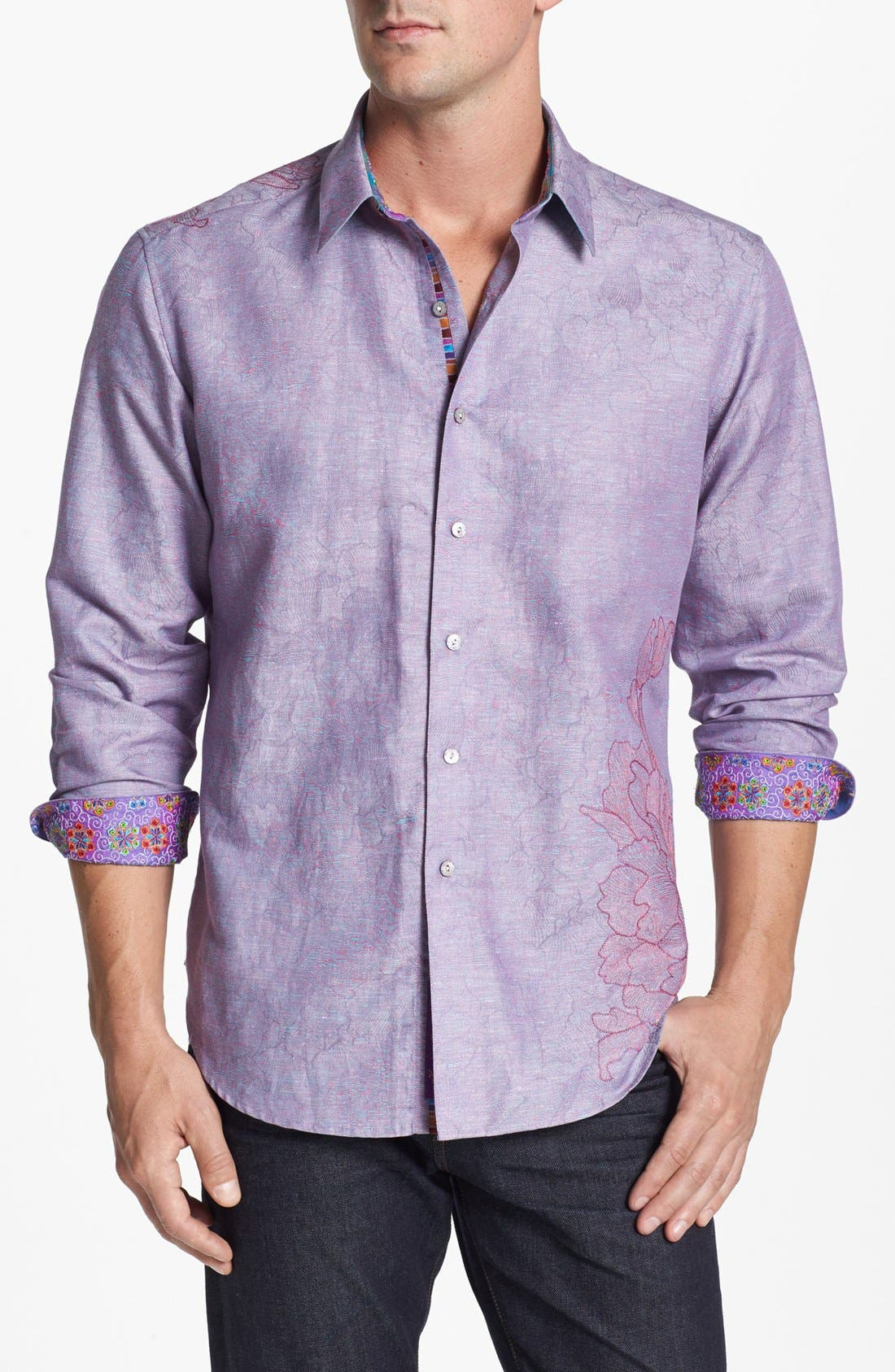 Alternate Image 1 Selected - Robert Graham 'Ebb' Sport Shirt