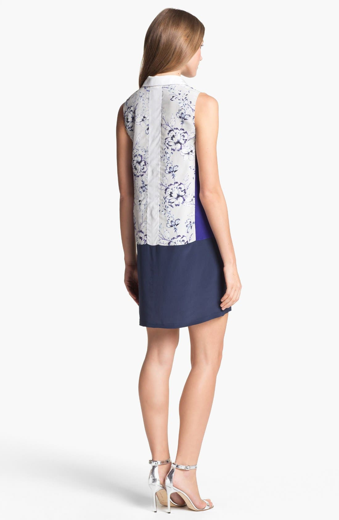 Alternate Image 2  - Rebecca Taylor 'Zen Flower' Silk Shift Dress