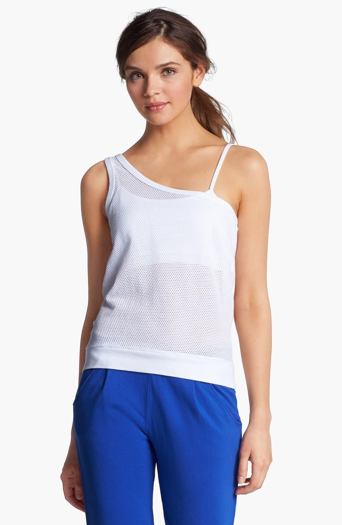 Main Image - Solow One Shoulder Mesh Tank