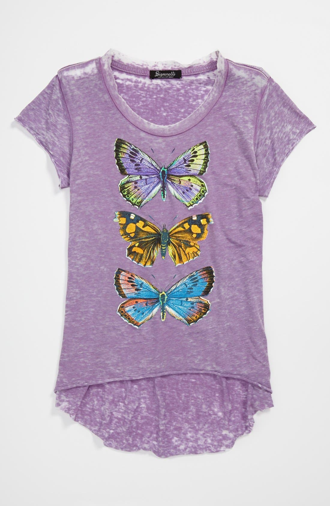Alternate Image 1 Selected - Signorelli Butterfly Print Tee (Big Girls)