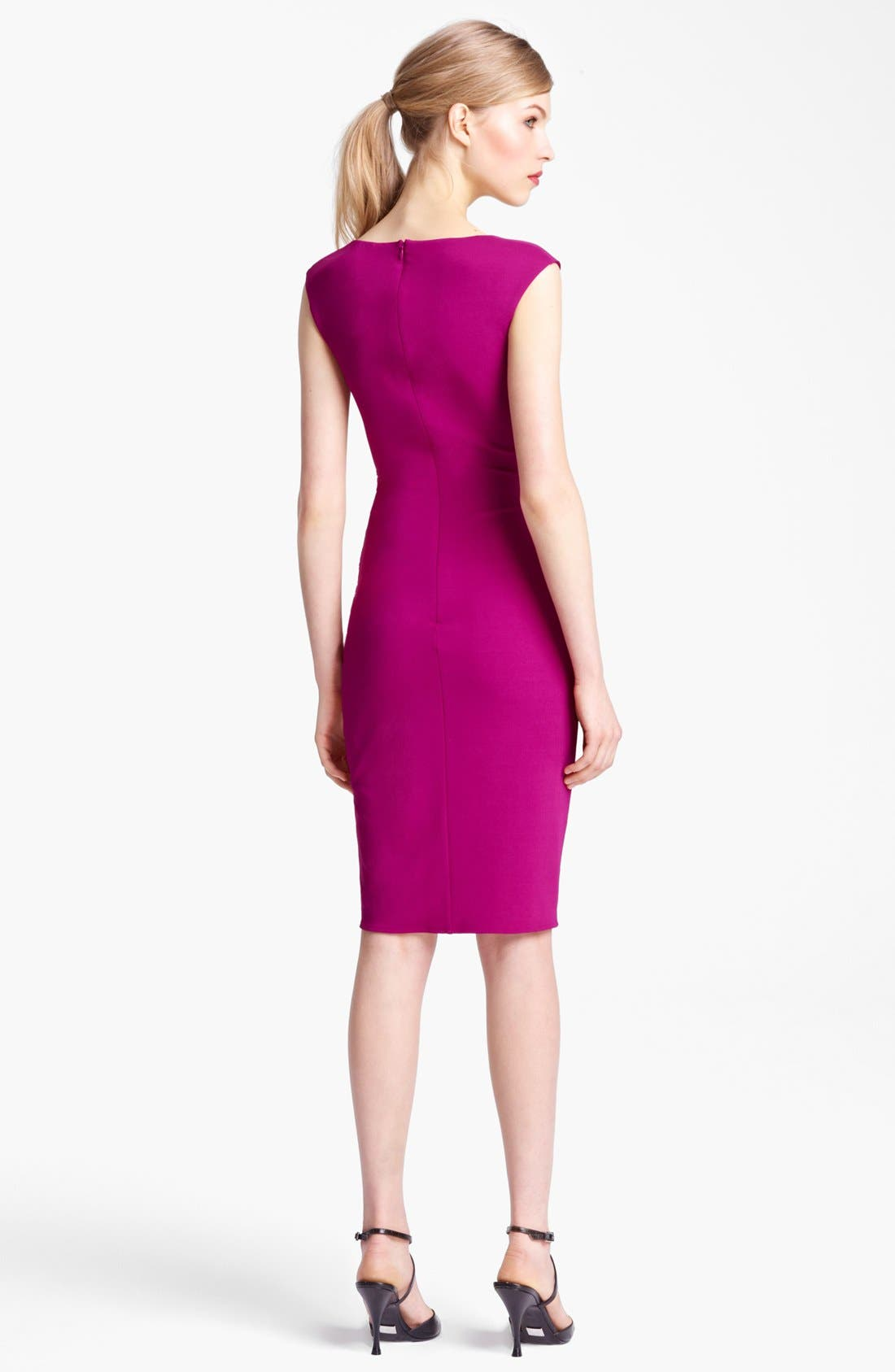 Alternate Image 2  - Michael Kors Tulip Hem Wool Jersey Dress