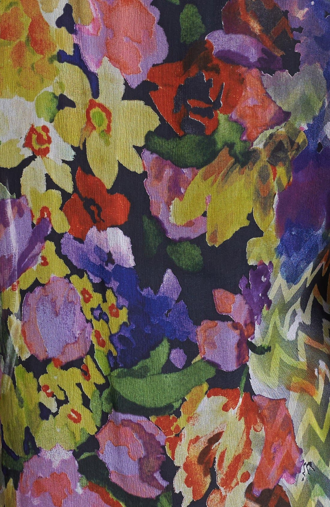 Alternate Image 3  - Casual Studio Roll Sleeve Sheer Blouse