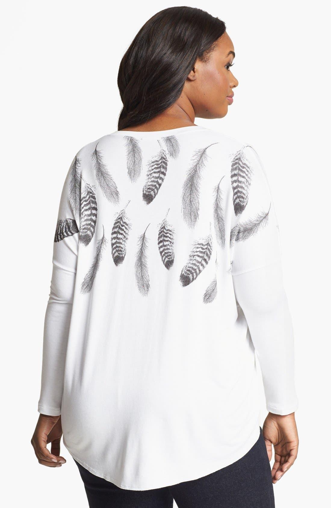 Alternate Image 2  - Karen Kane Print Shirt (Plus Size)