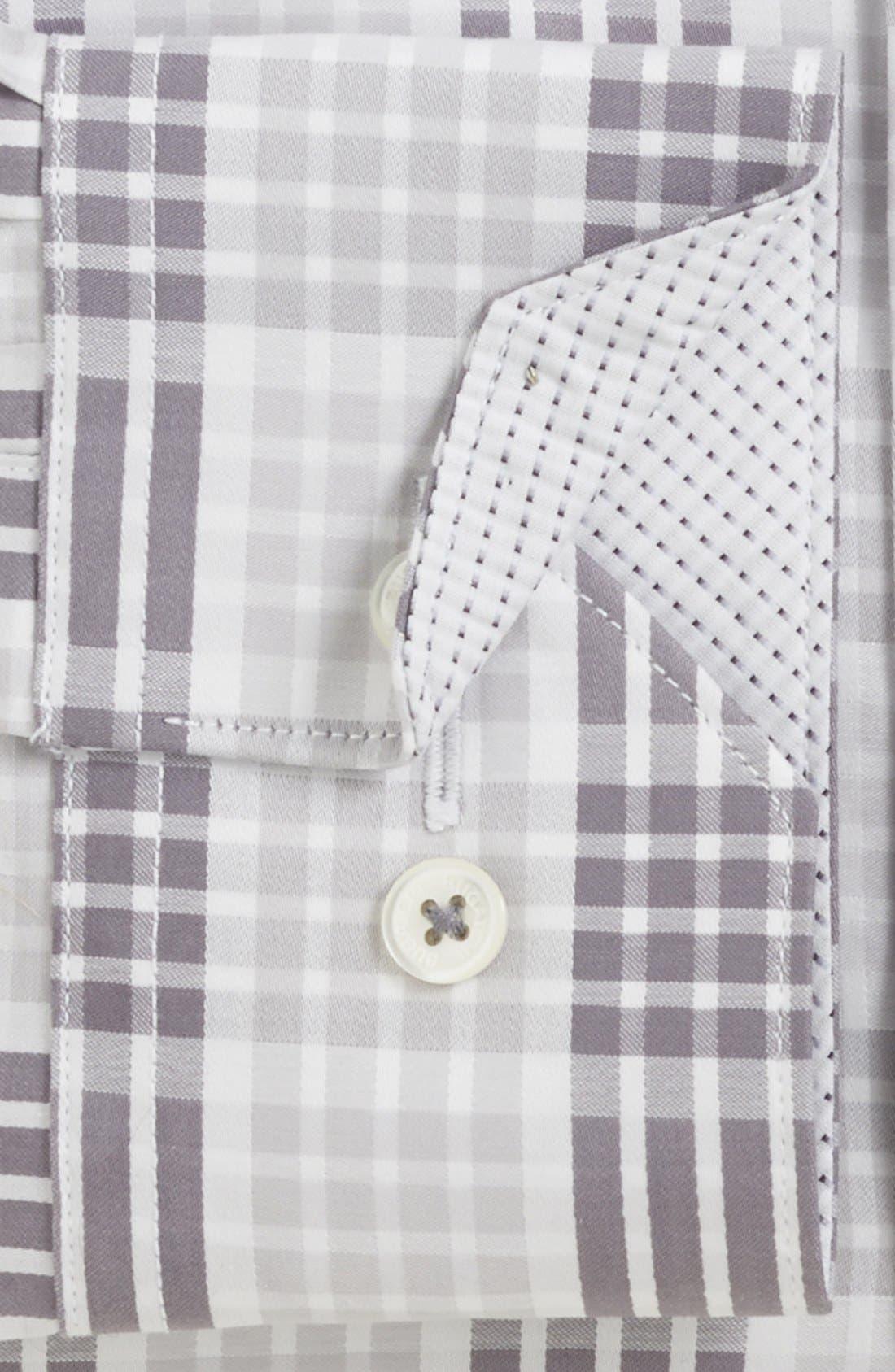 Alternate Image 4  - Bugatchi Check Classic Fit Cotton Sport Shirt