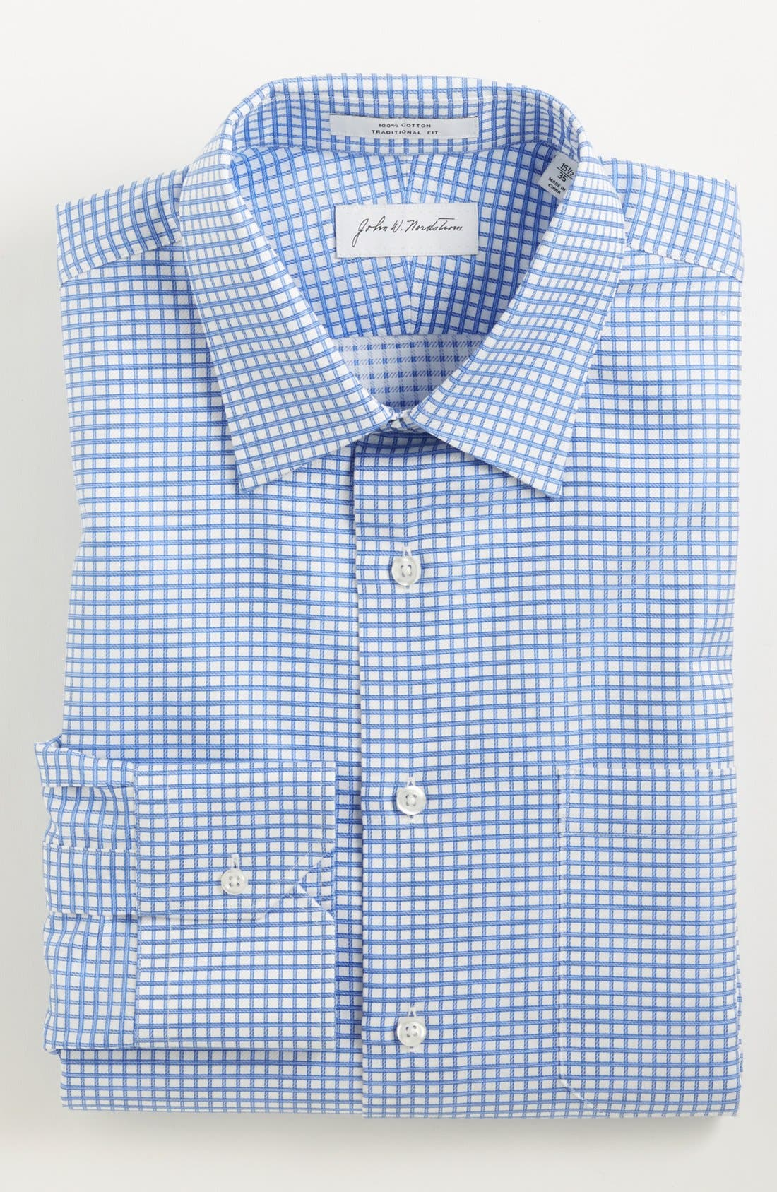 Alternate Image 1 Selected - John W. Nordstrom® Traditional Fit Check Dress Shirt