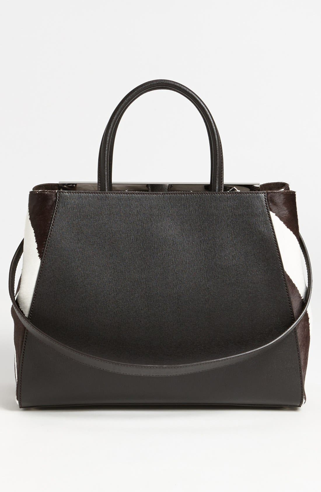 Alternate Image 4  - Fendi 'Medium 2Jours' Calf Hair Shopper