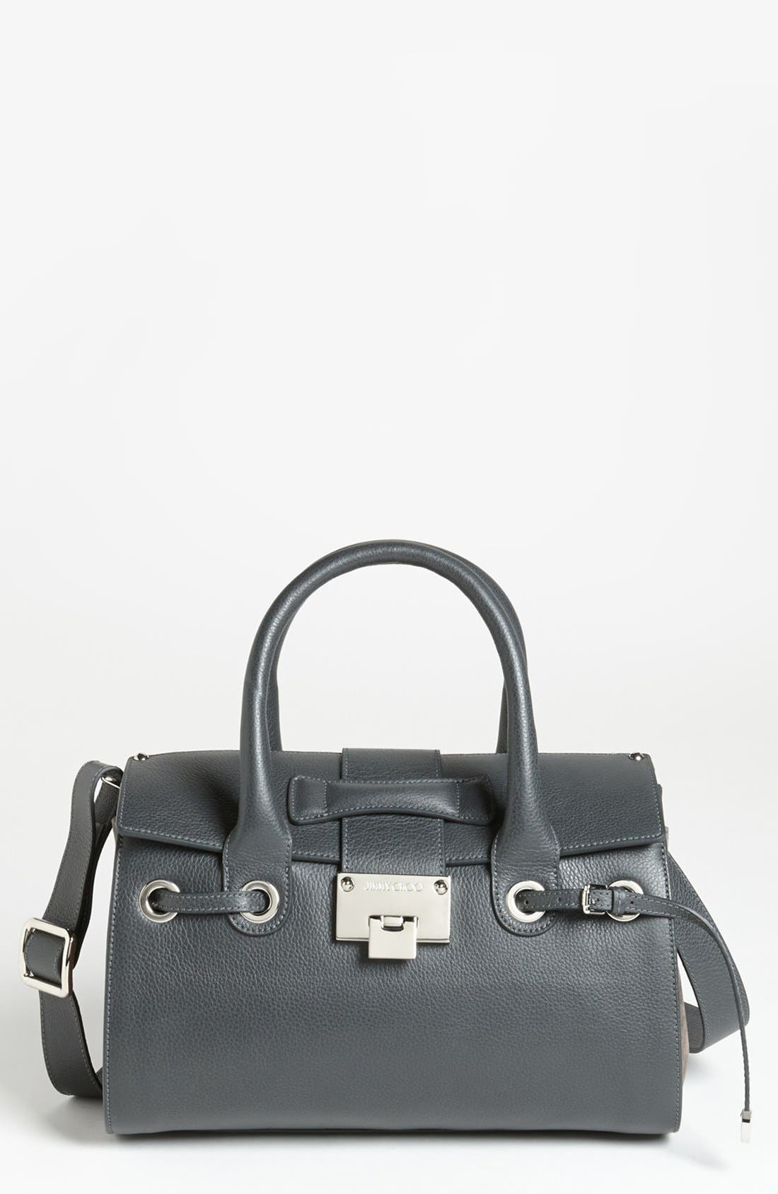 Alternate Image 1 Selected - Jimmy Choo 'Small Rosa' Leather Satchel