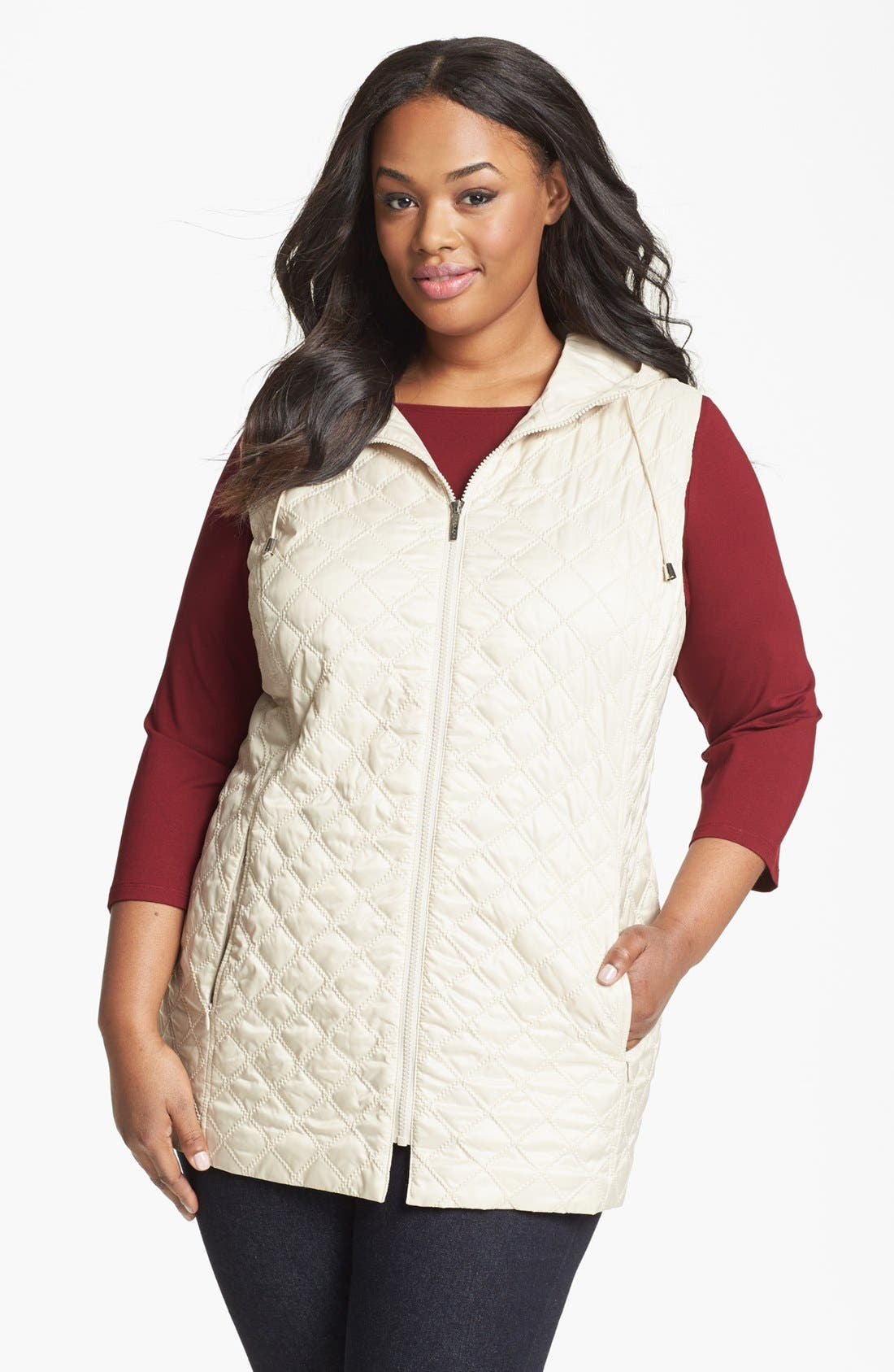 Alternate Image 2  - Laundry by Shelli Segal 3-in-1 Jacket (Plus Size)