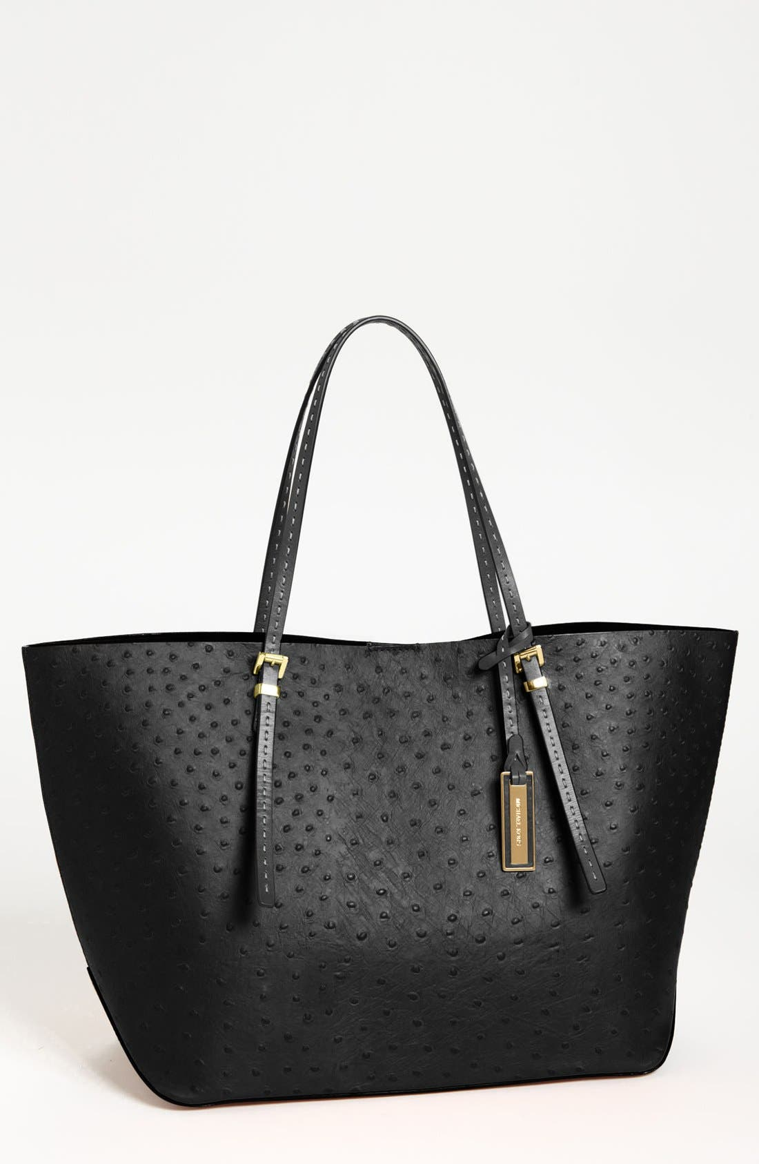 Alternate Image 1 Selected - Michael Kors 'Gia' Ostrich Embossed Leather Tote