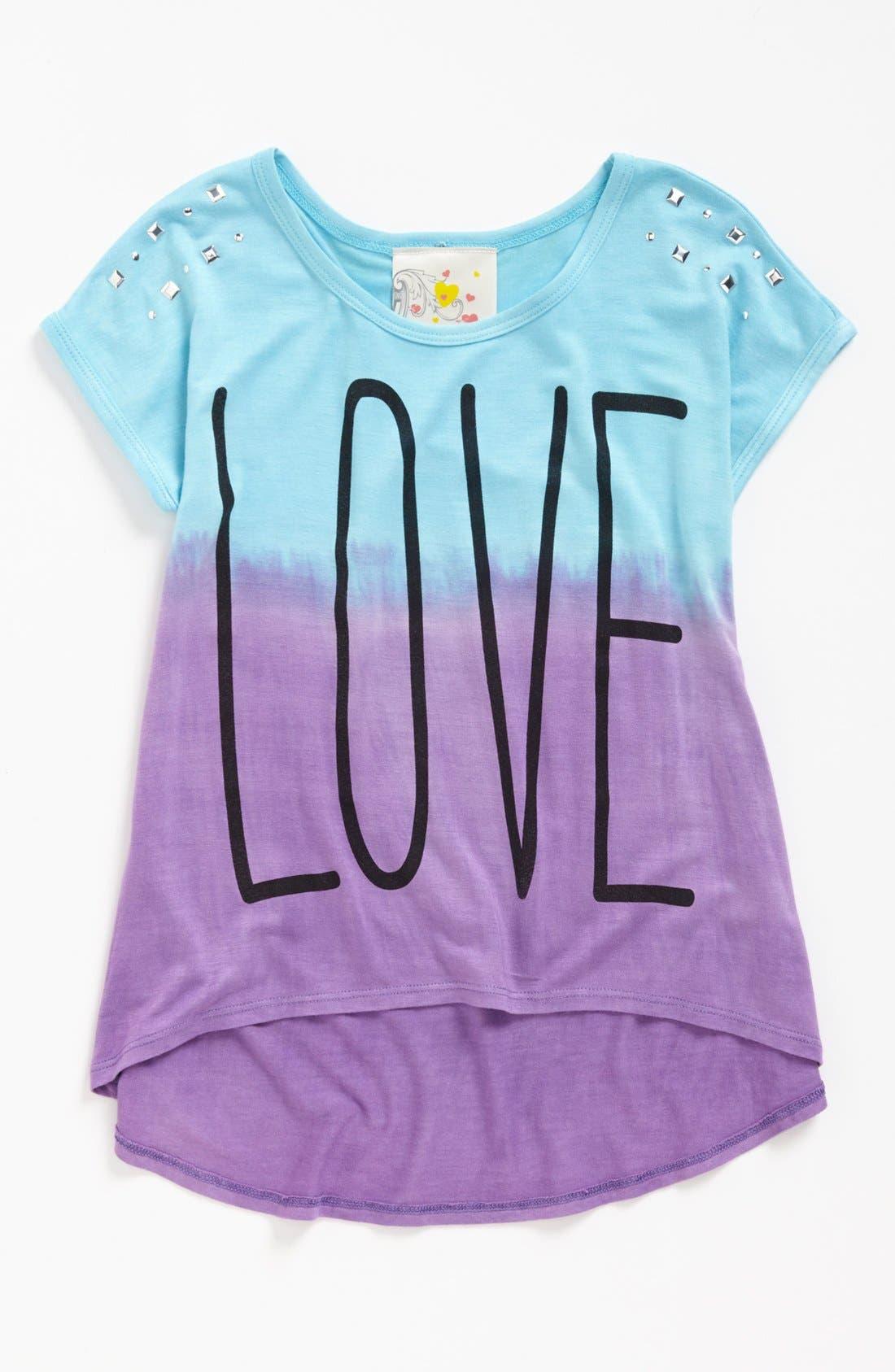 Alternate Image 1 Selected - Jenna & Jessie 'Love' Top (Little Girls)