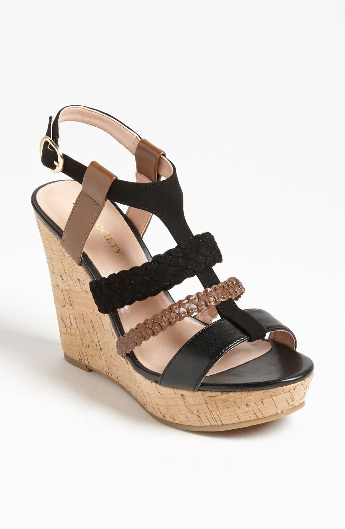Alternate Image 1 Selected - Sole Society 'Serina' Wedge Sandal
